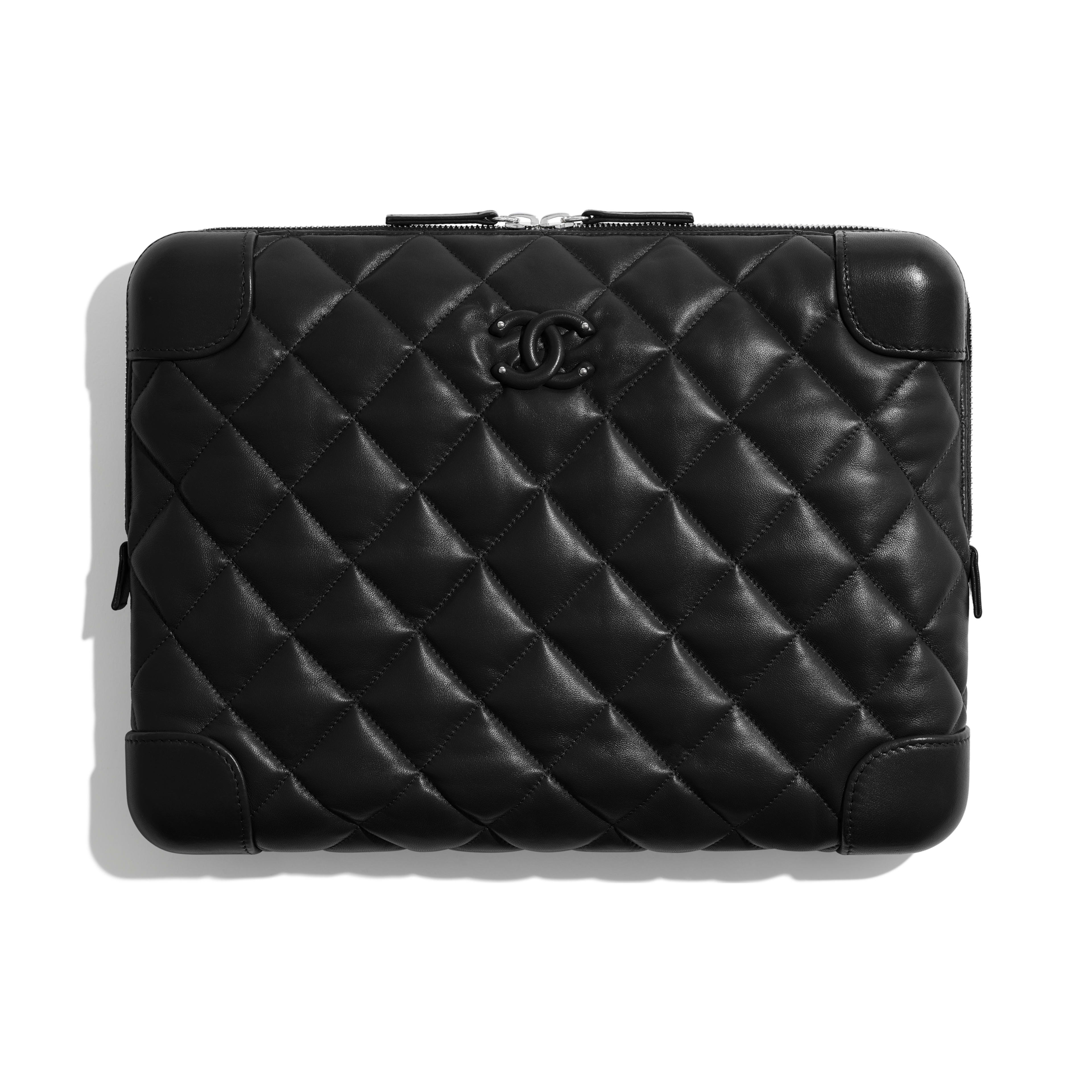 Large Clutch - Black - Lambskin - Default view - see full sized version