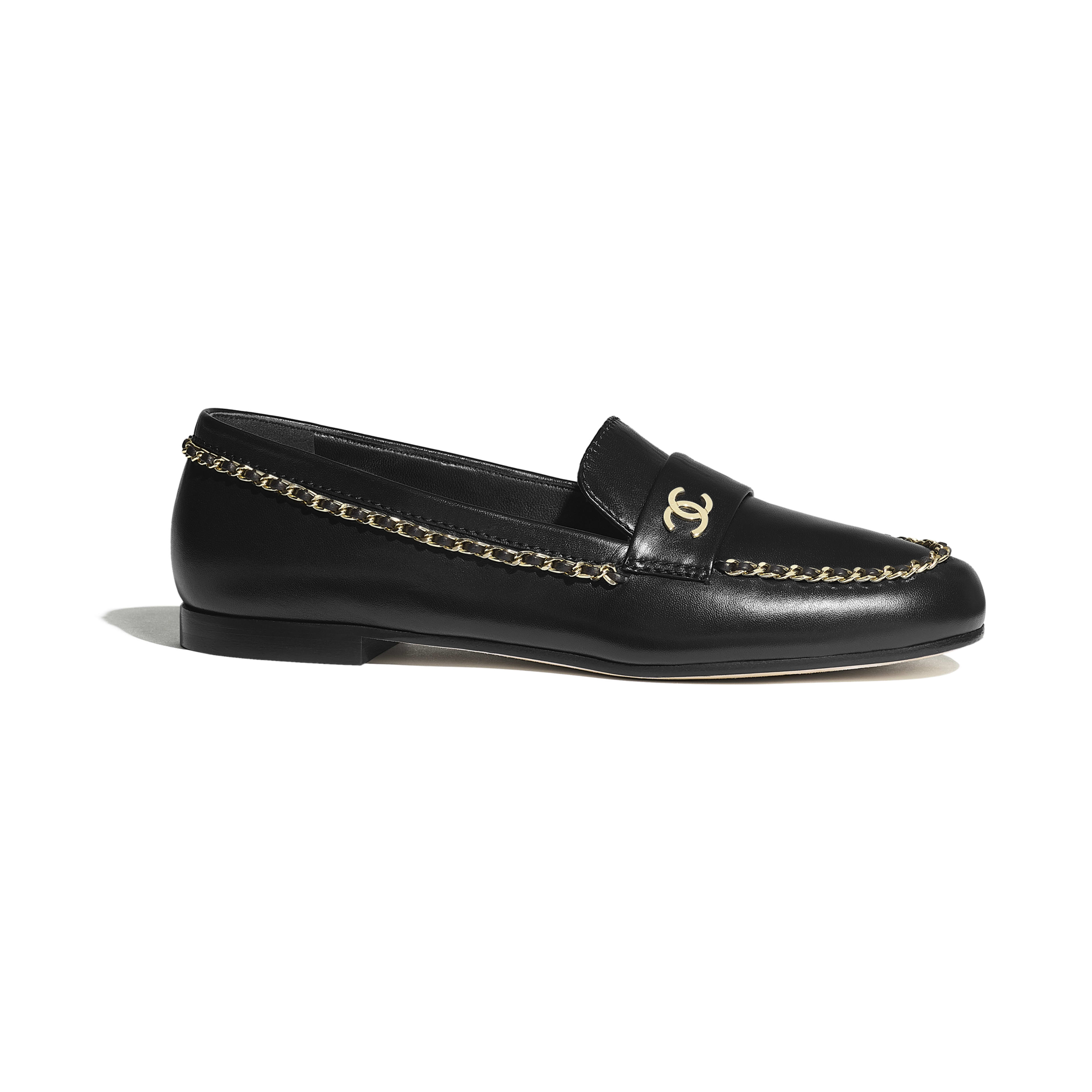 Loafers - Black - Lambskin - Default view - see full sized version