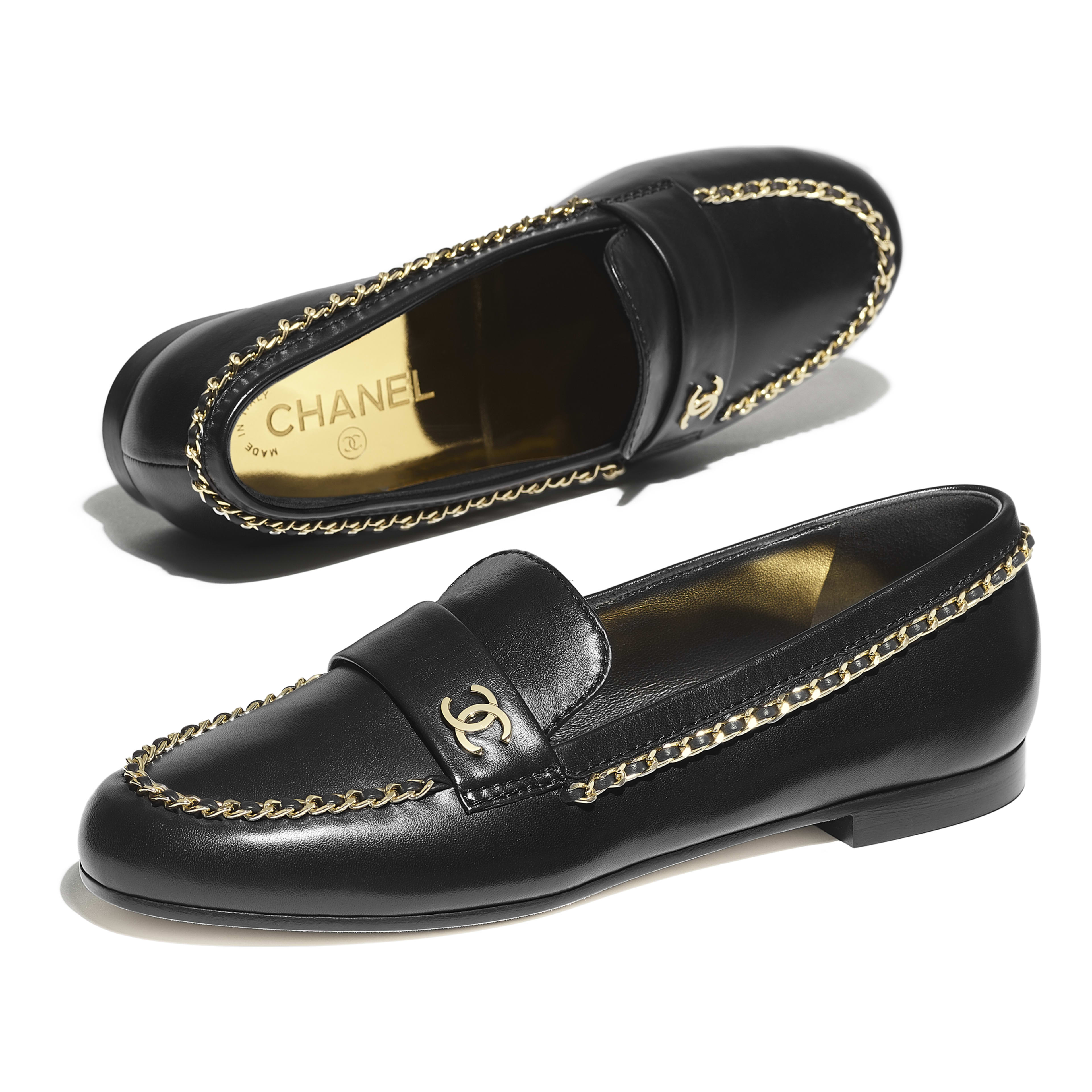 Loafers - Black - Lambskin - Extra view - see full sized version