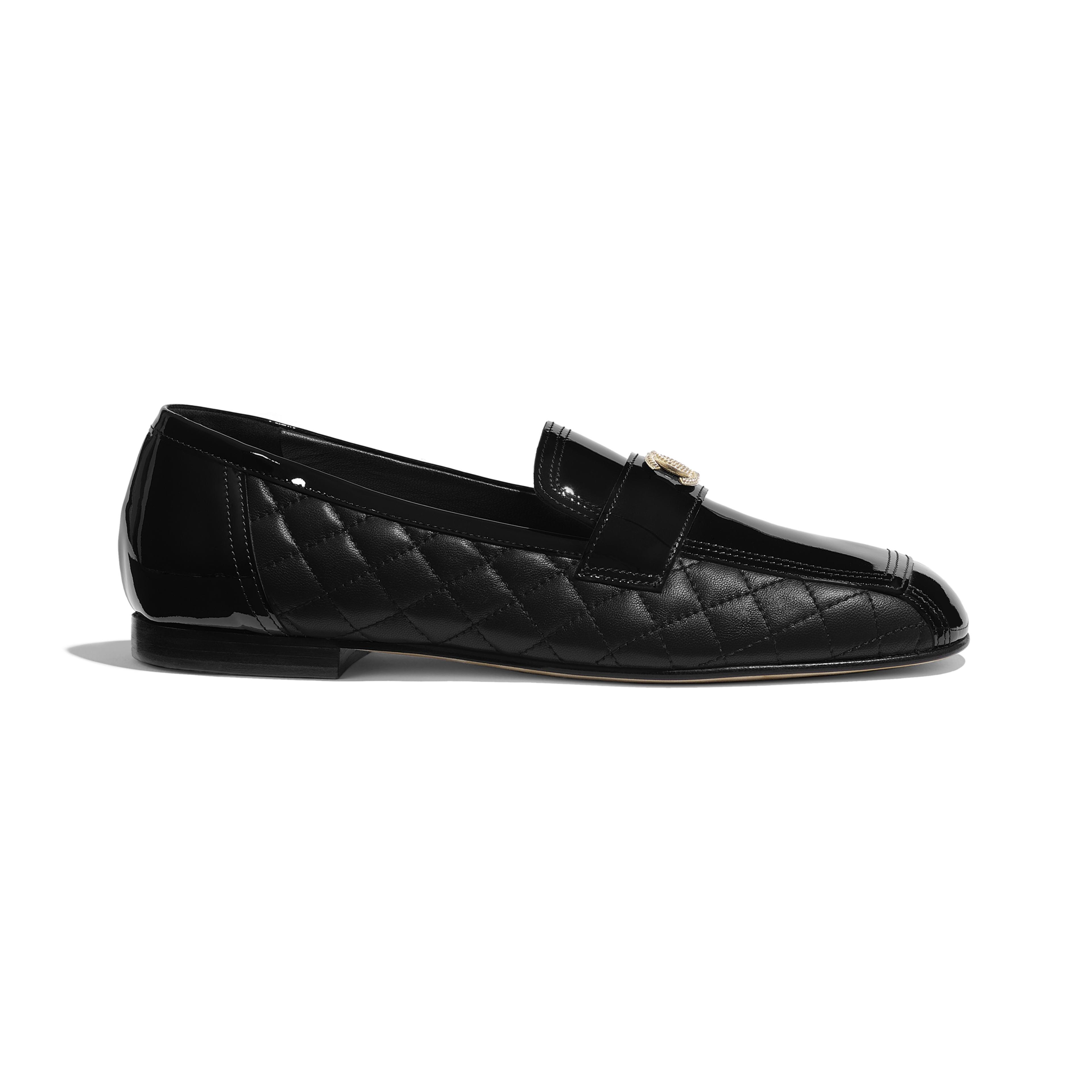 6ebec9331d7 Patent Calfskin   Lambskin Black Loafers