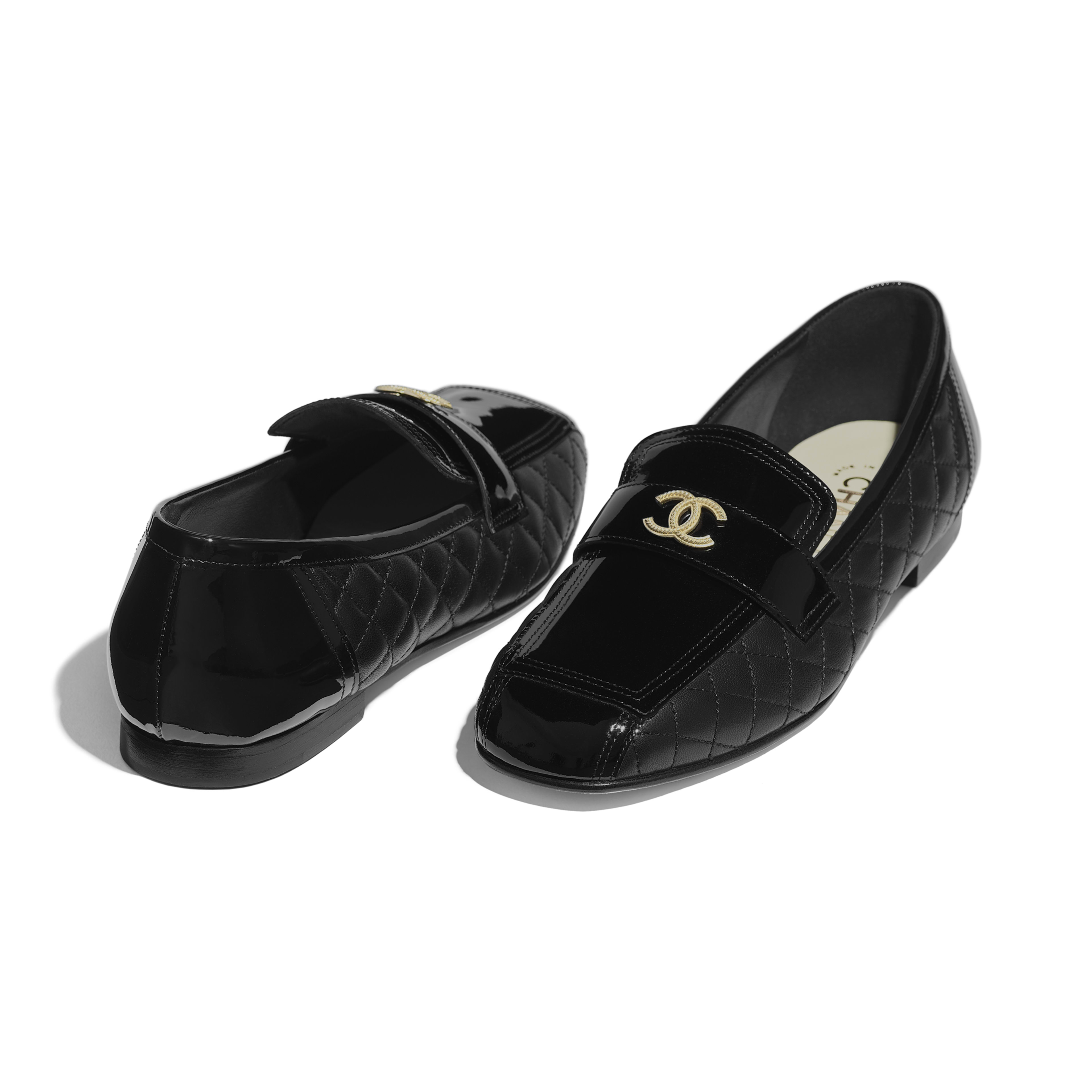 4db67b19349 Loafers - Black - Patent Calfskin   Lambskin - Other view - see full sized  version ...