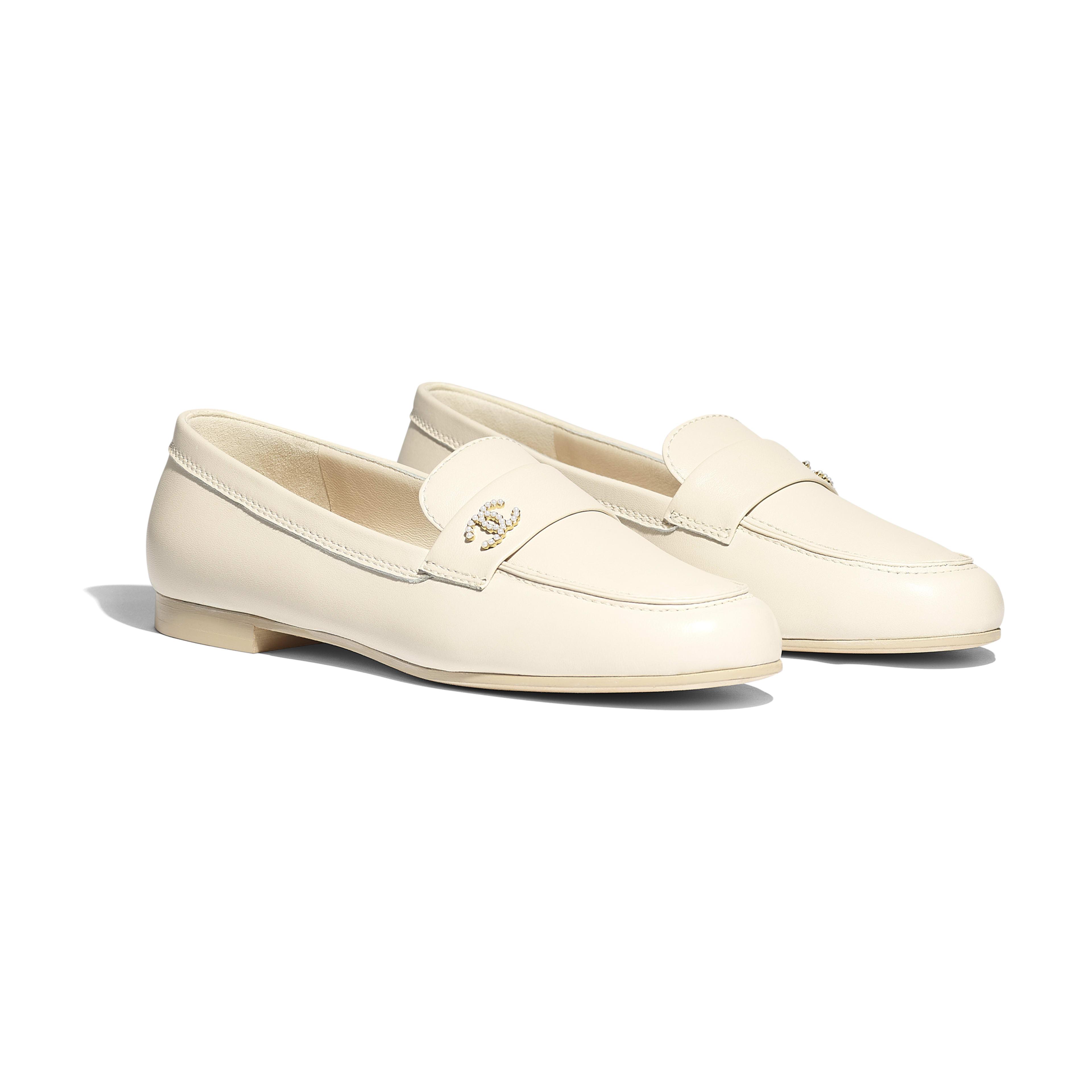 Loafers - Light Beige - Lambskin - Alternative view - see full sized version