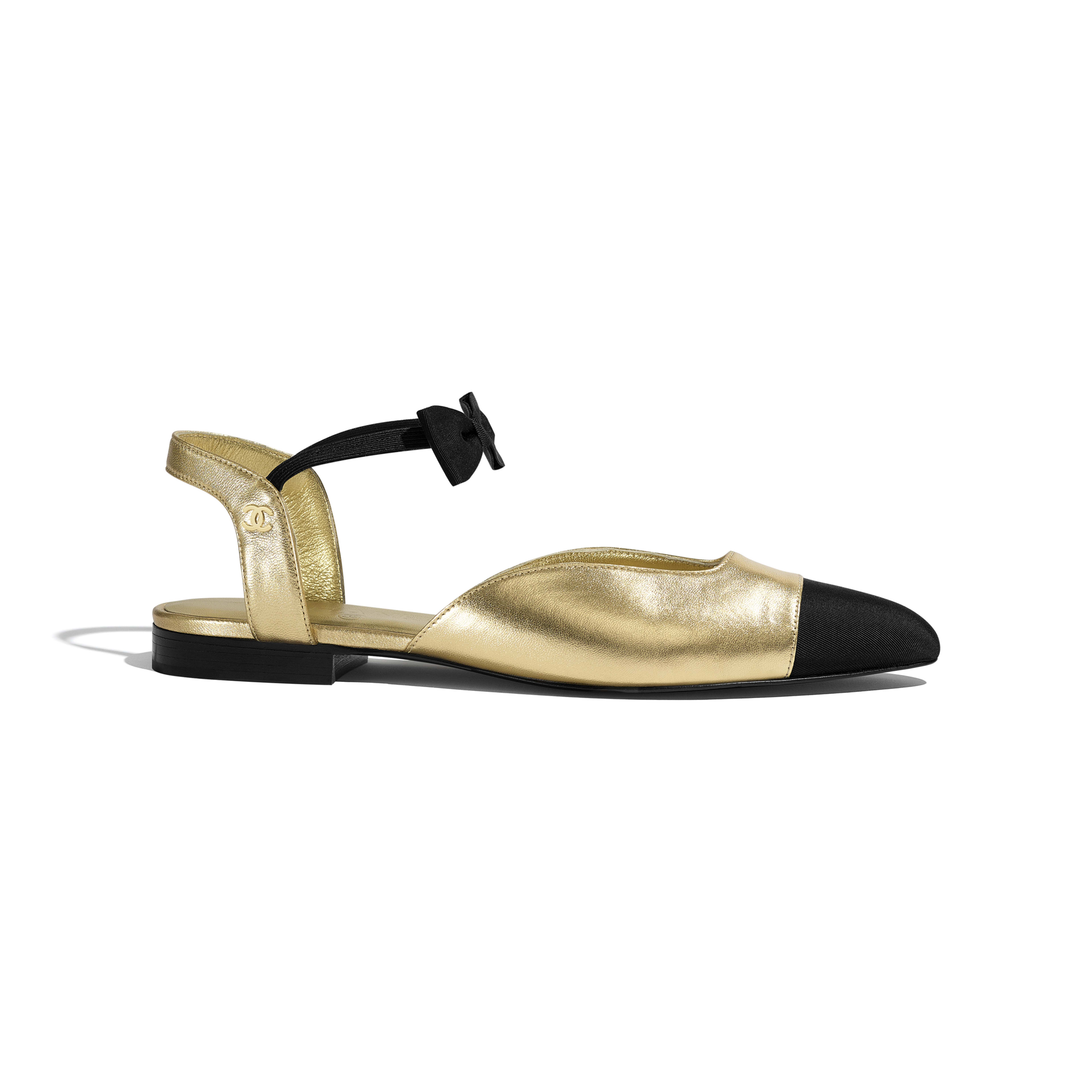 Grosgrain Gold \u0026 Black Mary Janes | CHANEL