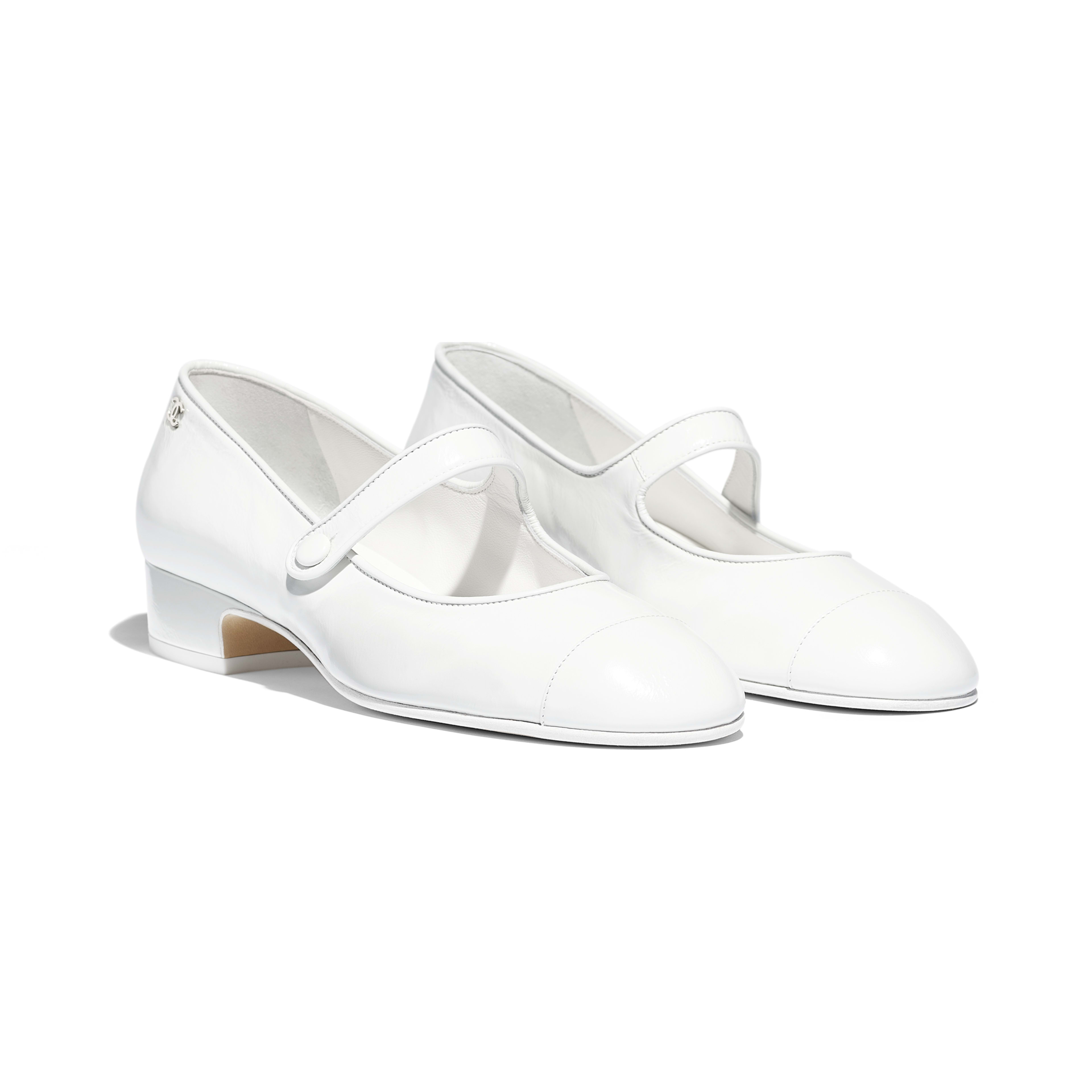 Mary Janes - White - Calfskin - Alternative view - see full sized version