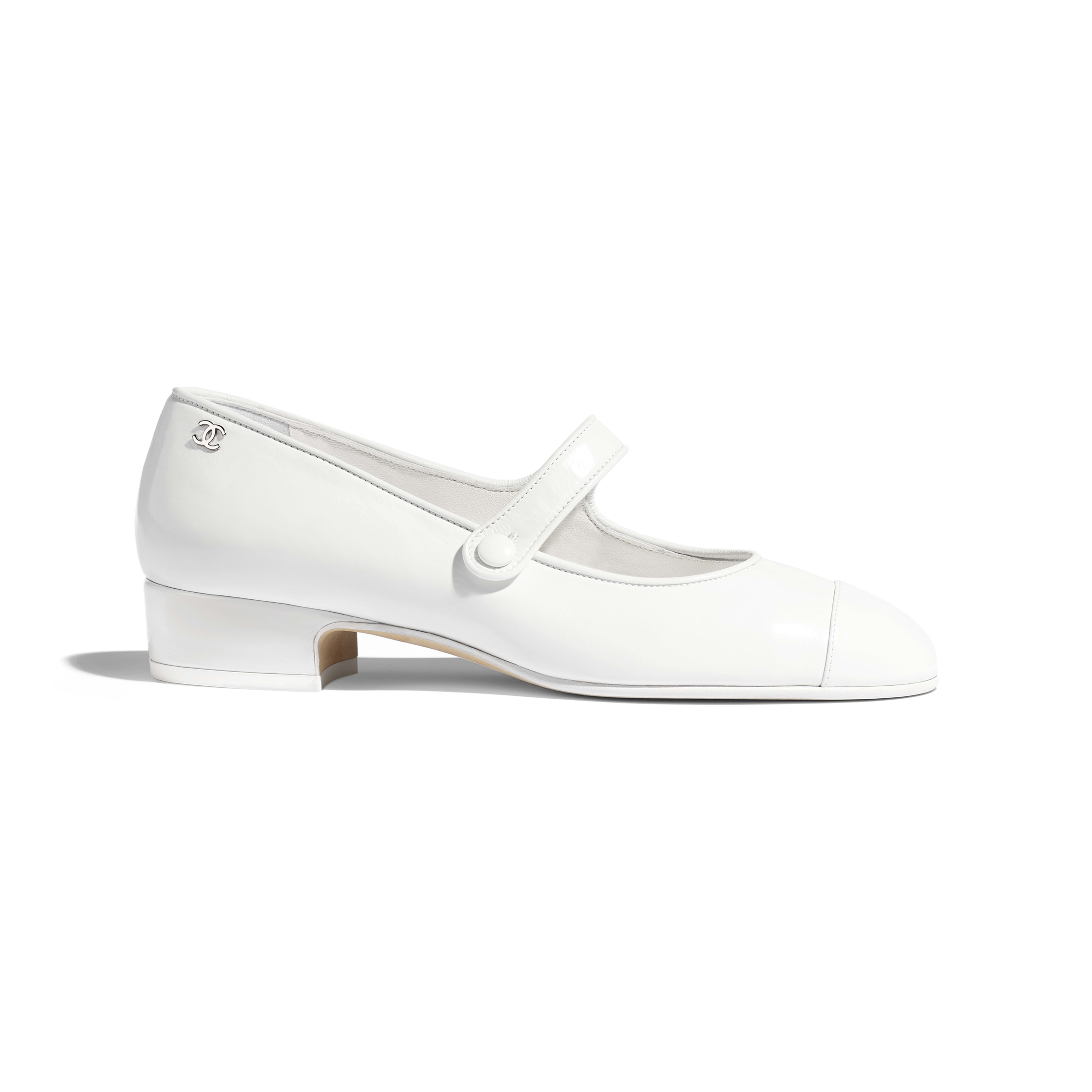 Mary Janes - White - Calfskin - Default view - see full sized version