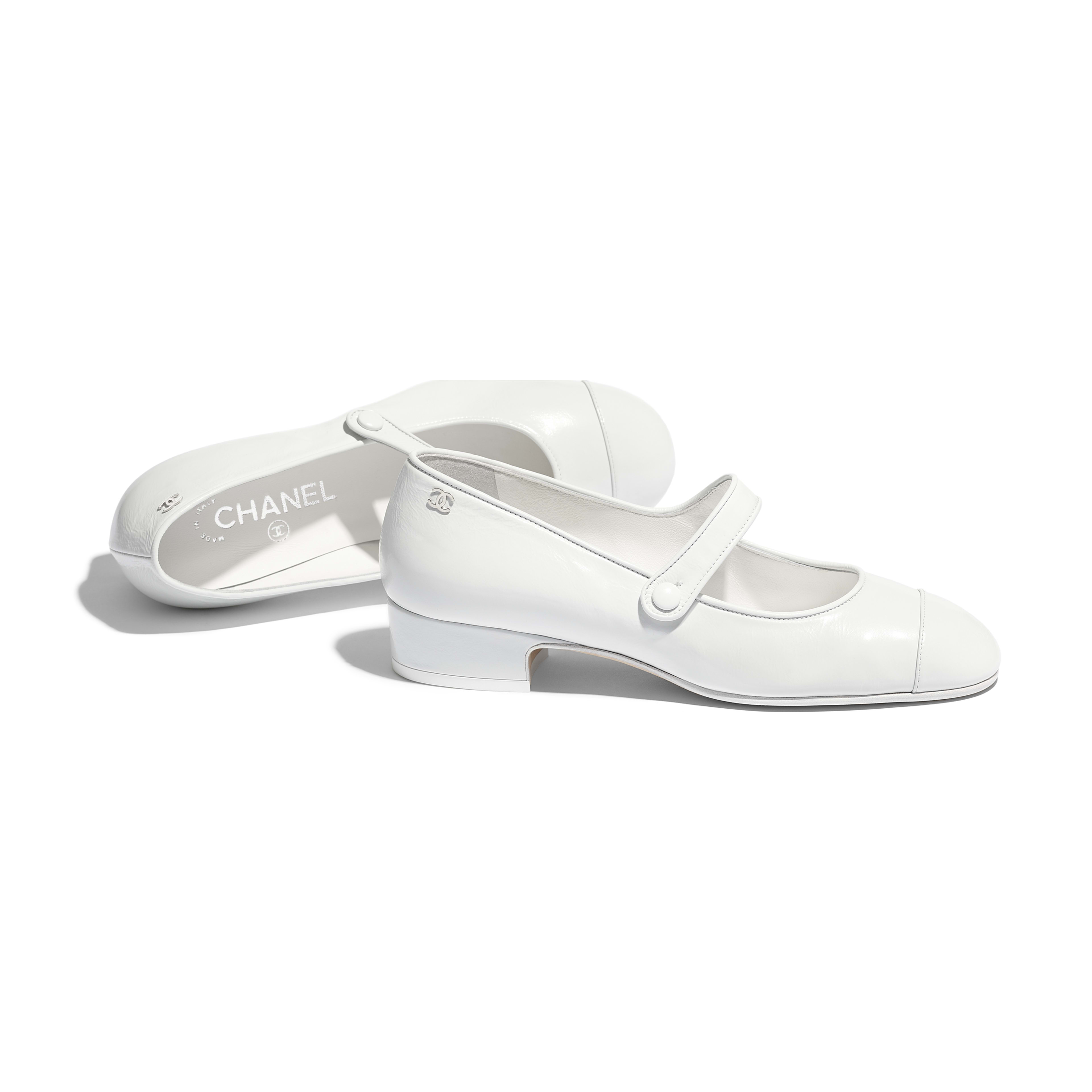 Mary Janes - White - Calfskin - Other view - see full sized version