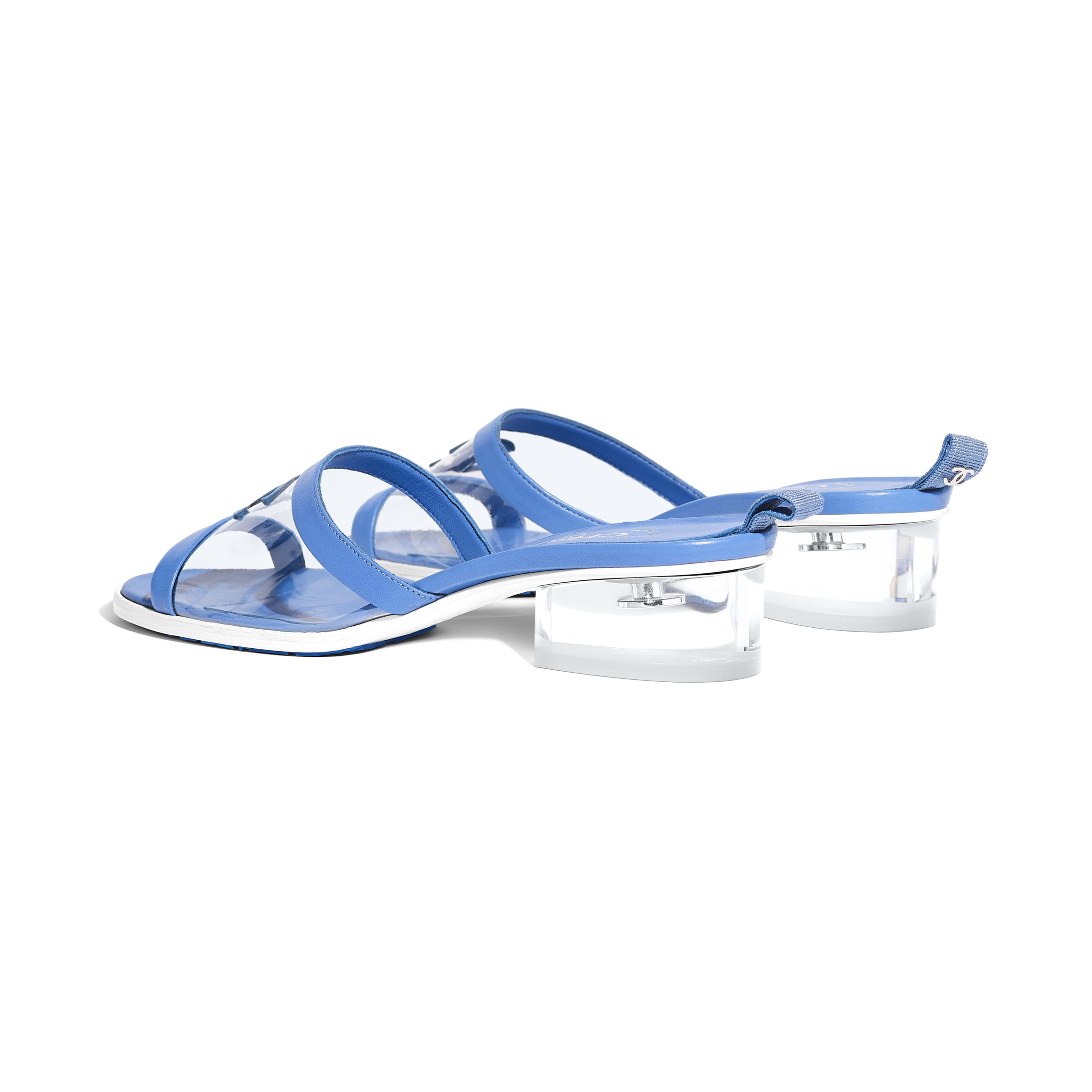 Mules - Transparent & Blue - PVC & Lambskin - Other view - see full sized version