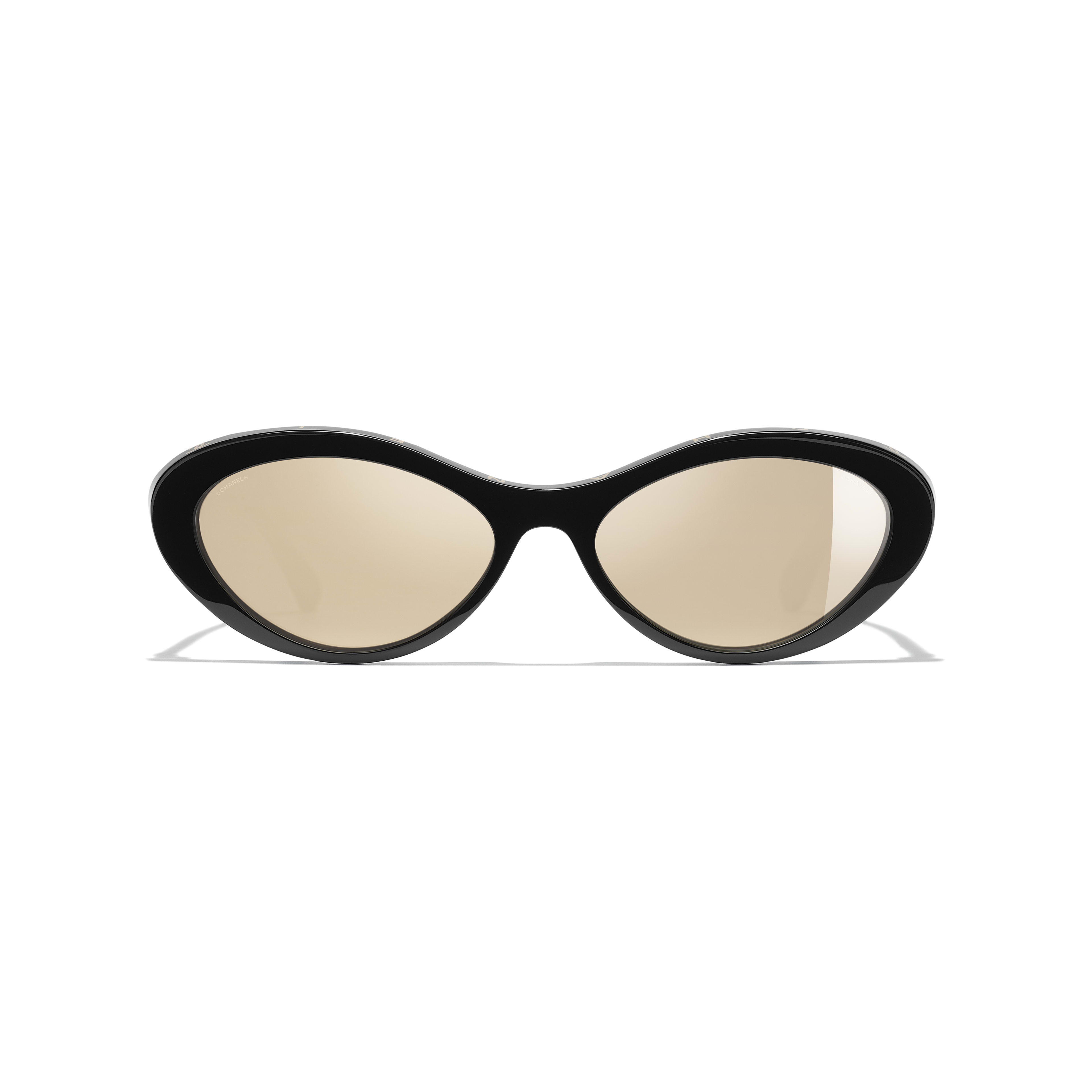 Oval Sunglasses - Black - Acetate - Alternative view - see full sized version