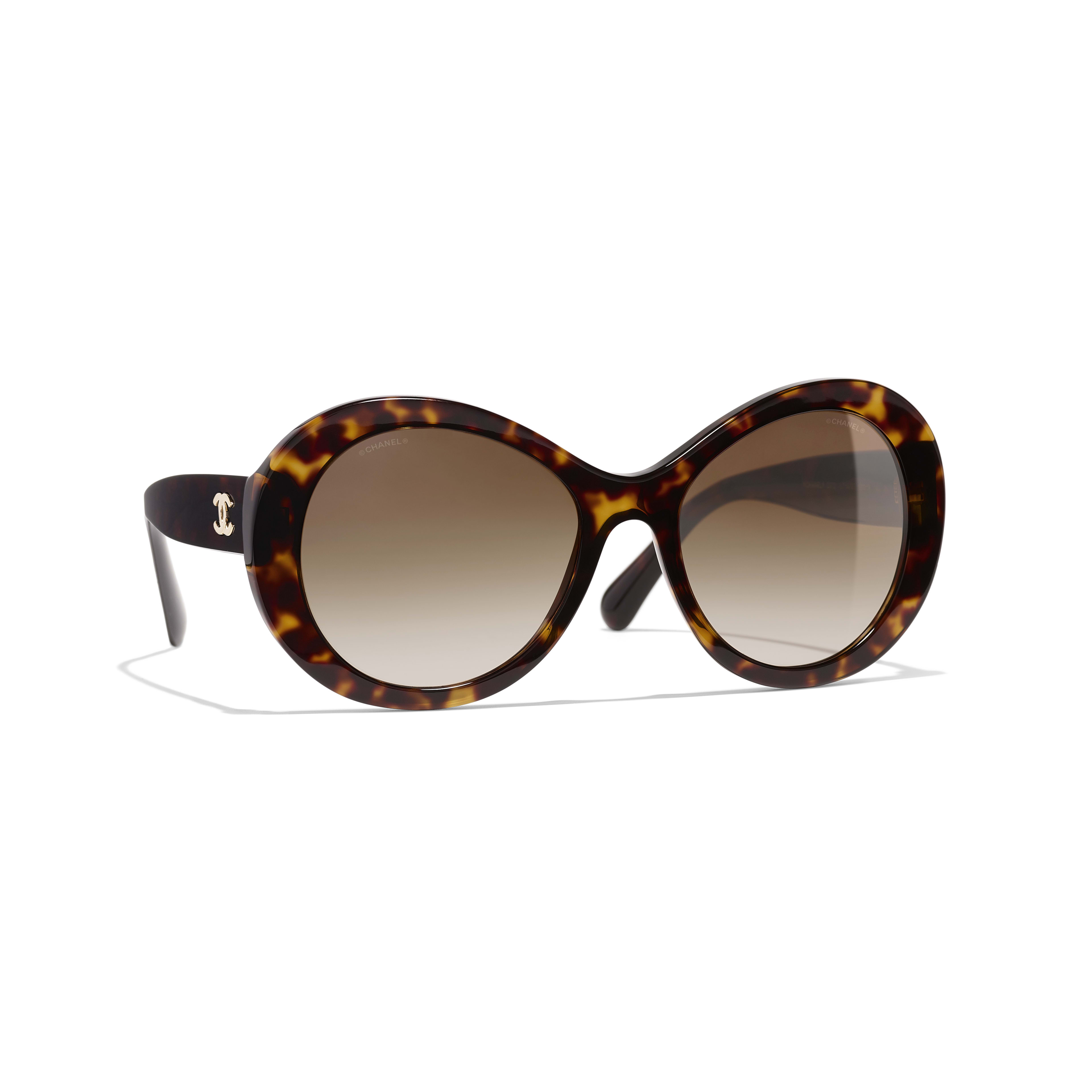 Oval Sunglasses - Dark Tortoise - Acetate - Default view - see full sized version