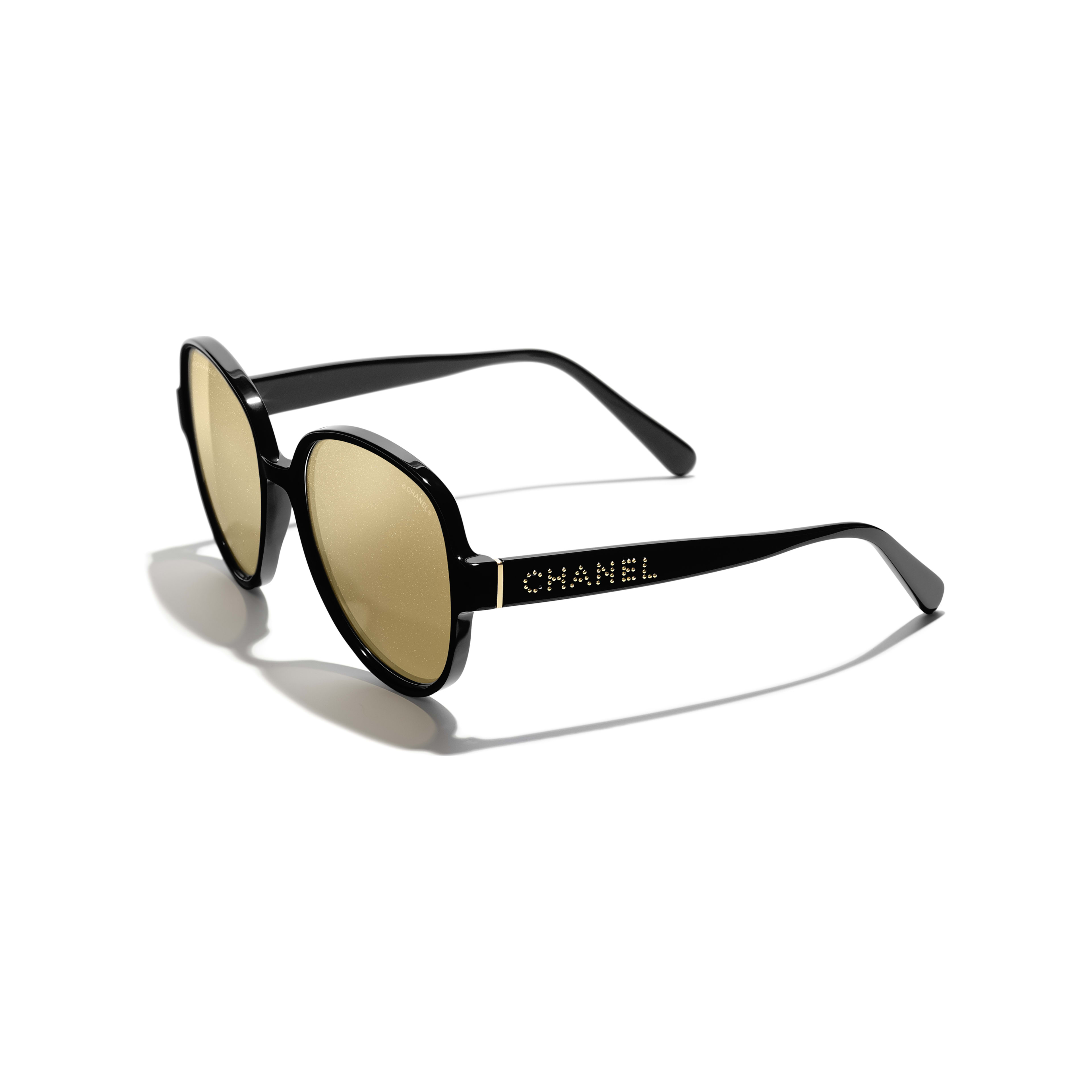 Pilot Sunglasses - Black - Acetate - Extra view - see full sized version