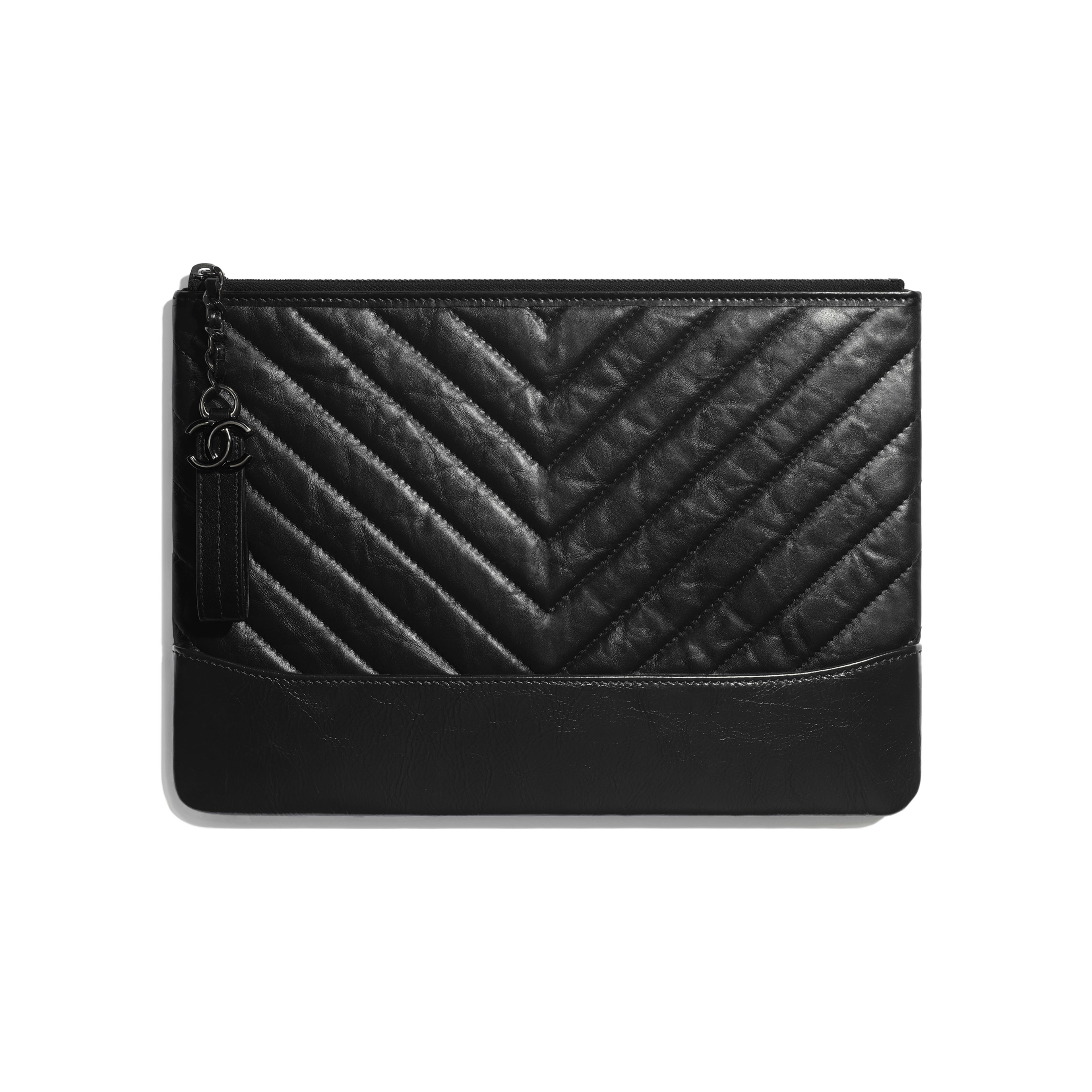 Pouch - Black - Aged Calfskin, Smooth Calfskin & Black Metal - Default view - see full sized version