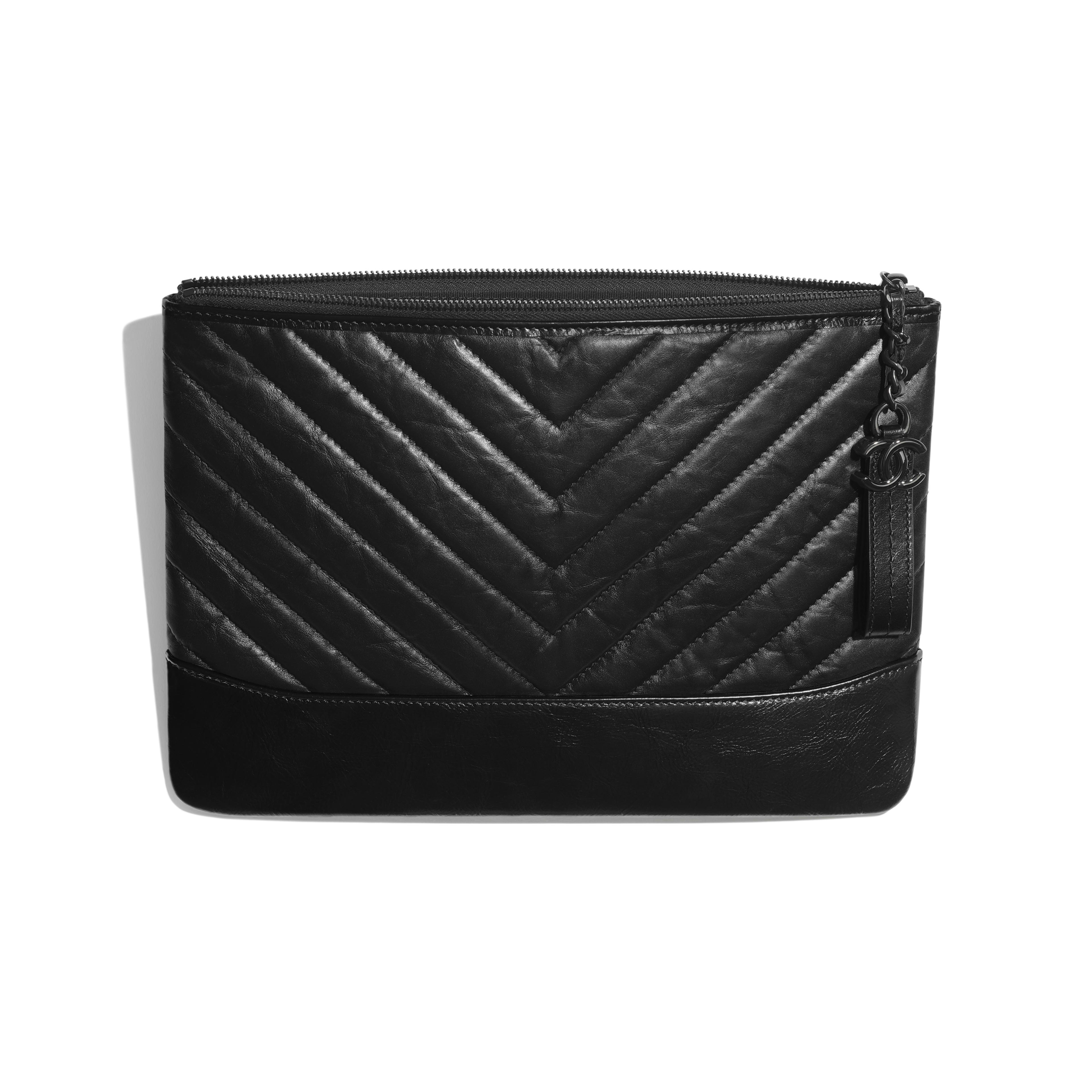 Pouch - Black - Aged Calfskin, Smooth Calfskin & Black Metal - Other view - see full sized version