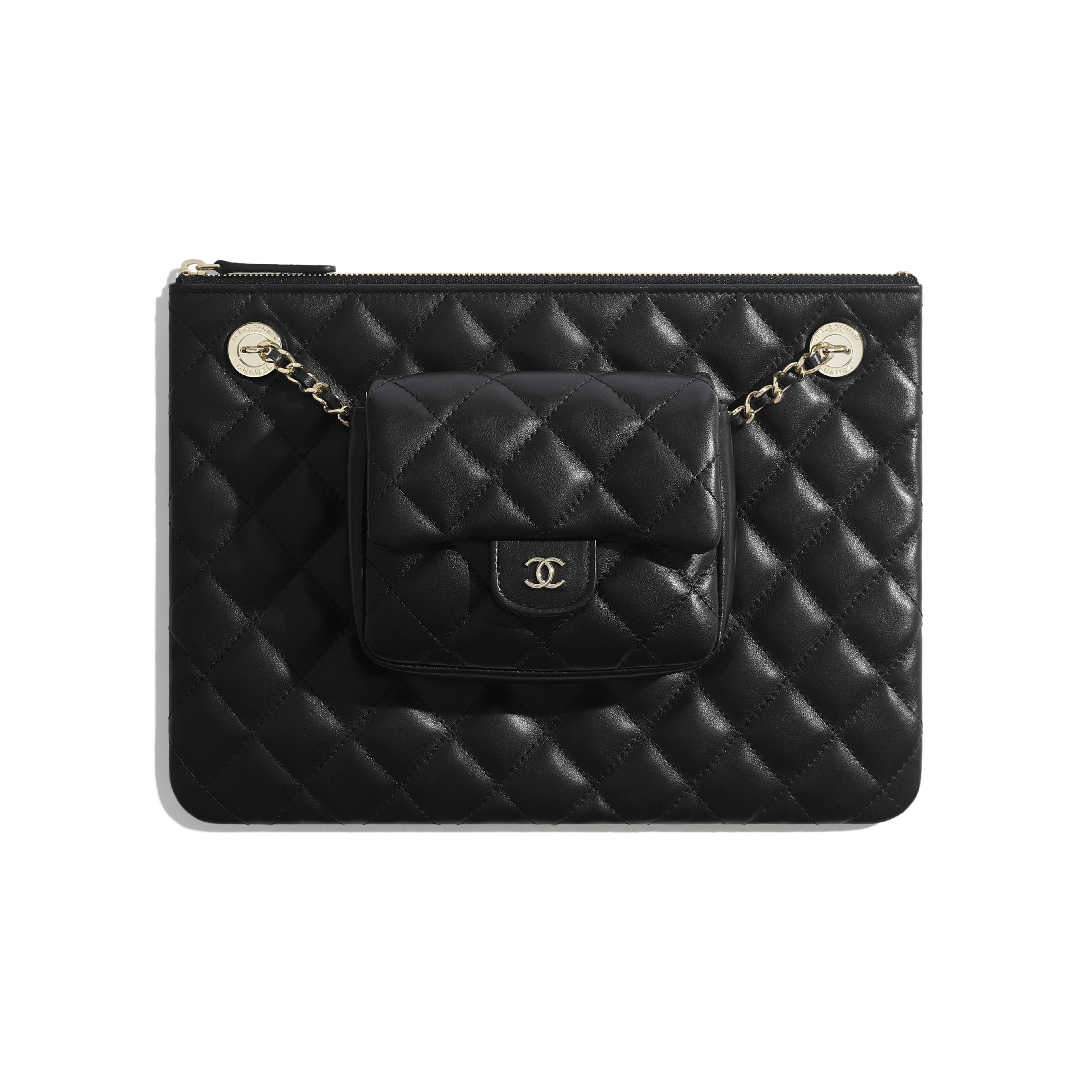 Pouch - Black - Lambskin - Default view - see full sized version