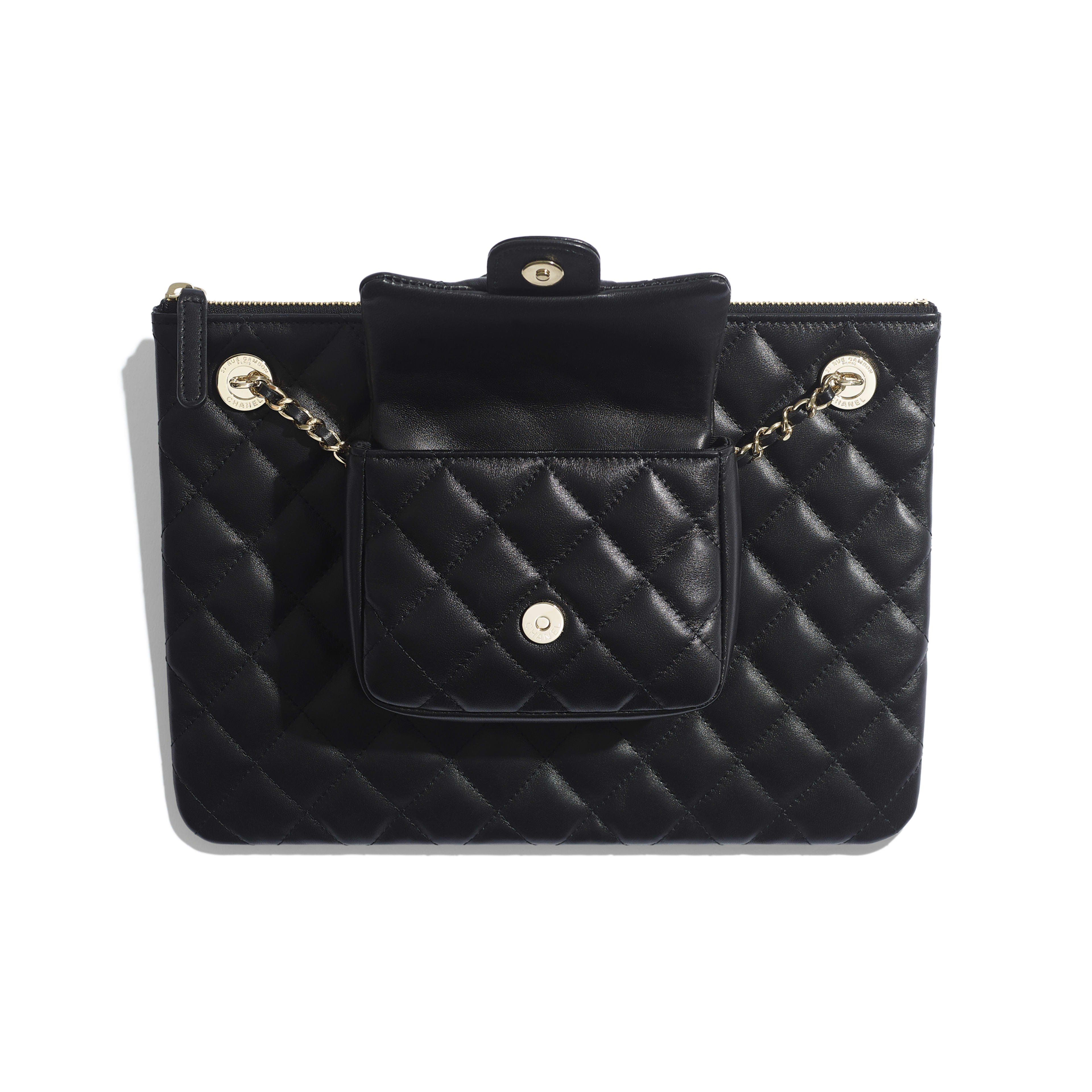 Pouch - Black - Lambskin - Other view - see full sized version