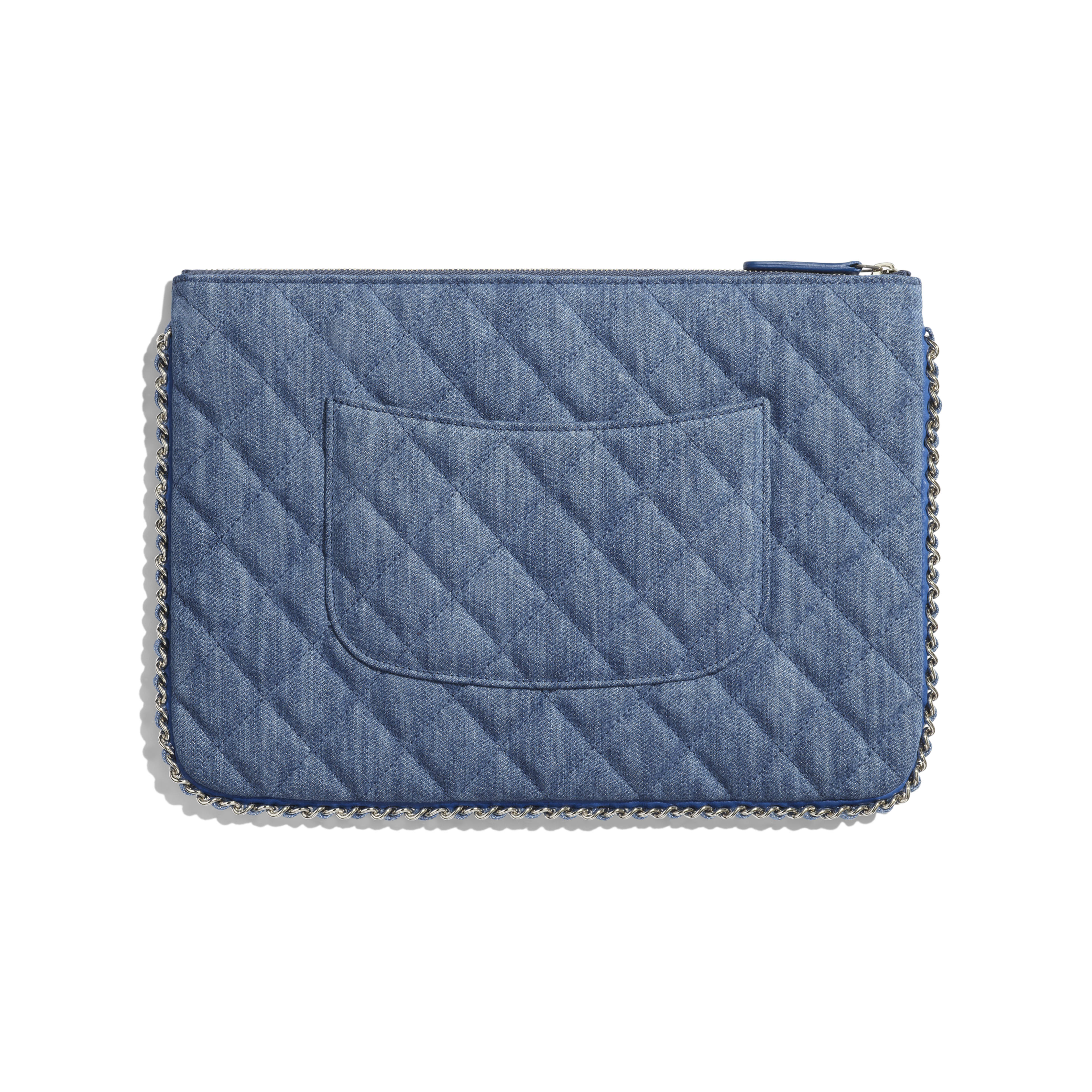 Pouch - Blue - Denim, Chain & Silver-Tone Metal - Alternative view - see full sized version