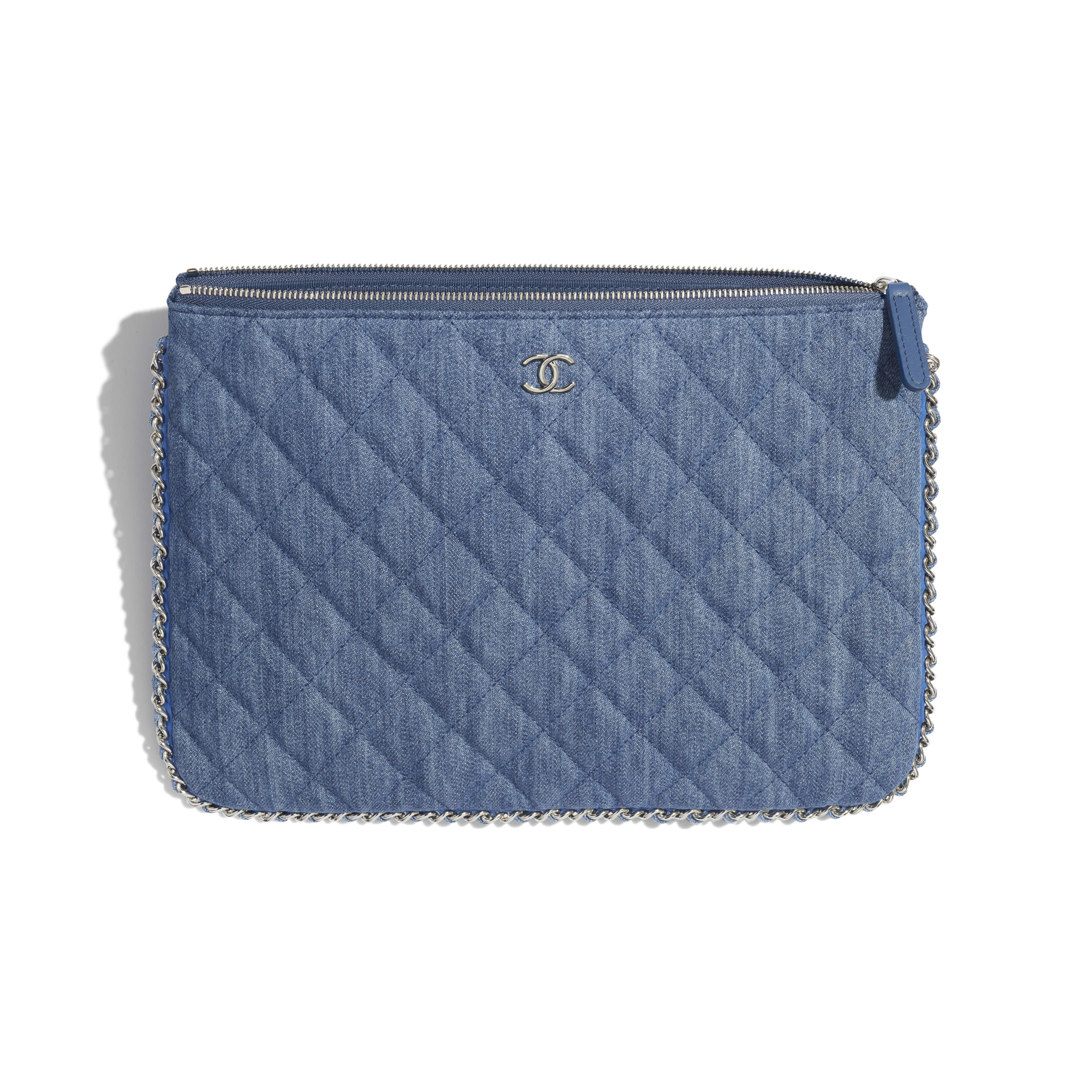 Pouch - Blue - Denim, Chain & Silver-Tone Metal - Other view - see full sized version