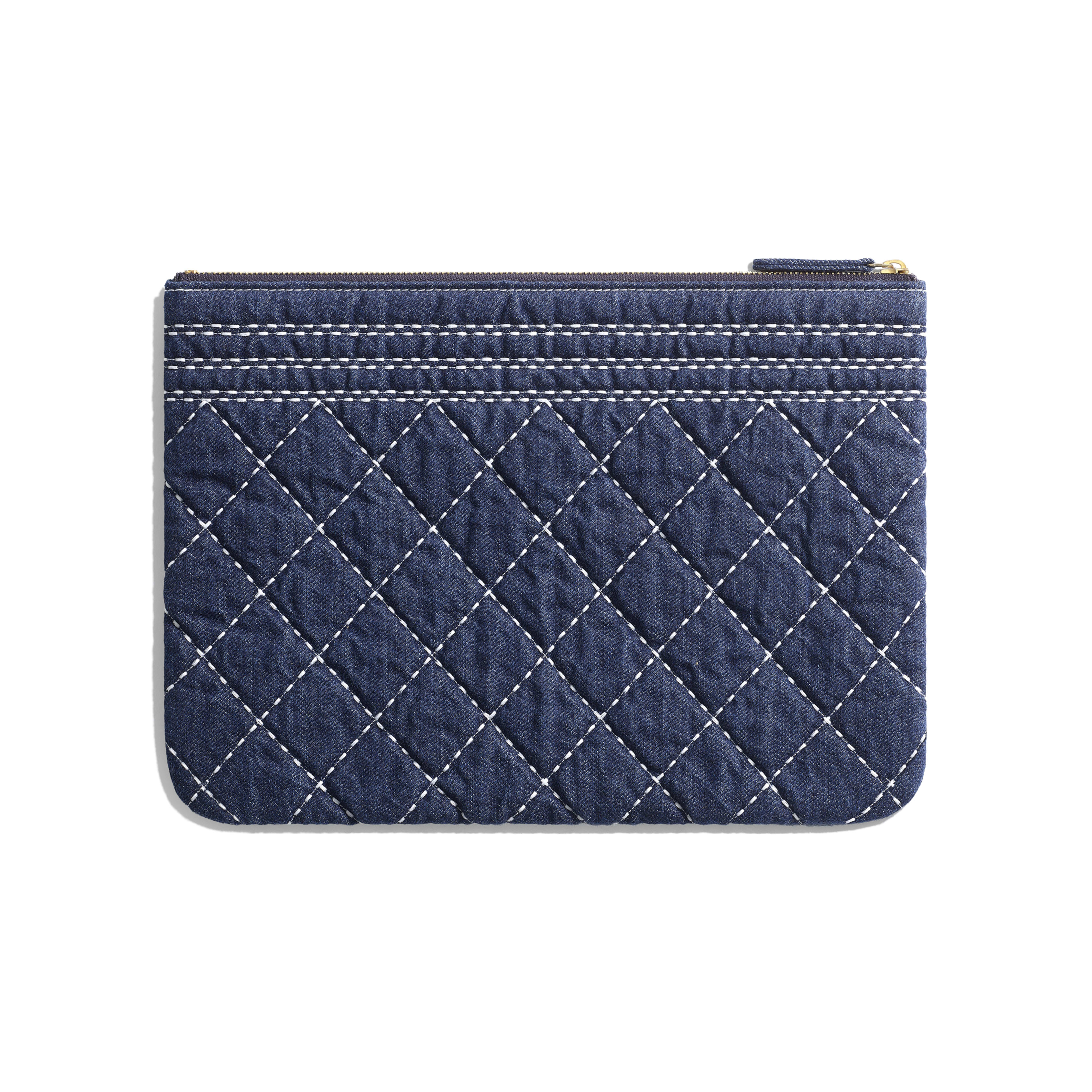 Pouch - Blue - Denim & Gold Metal - Alternative view - see full sized version