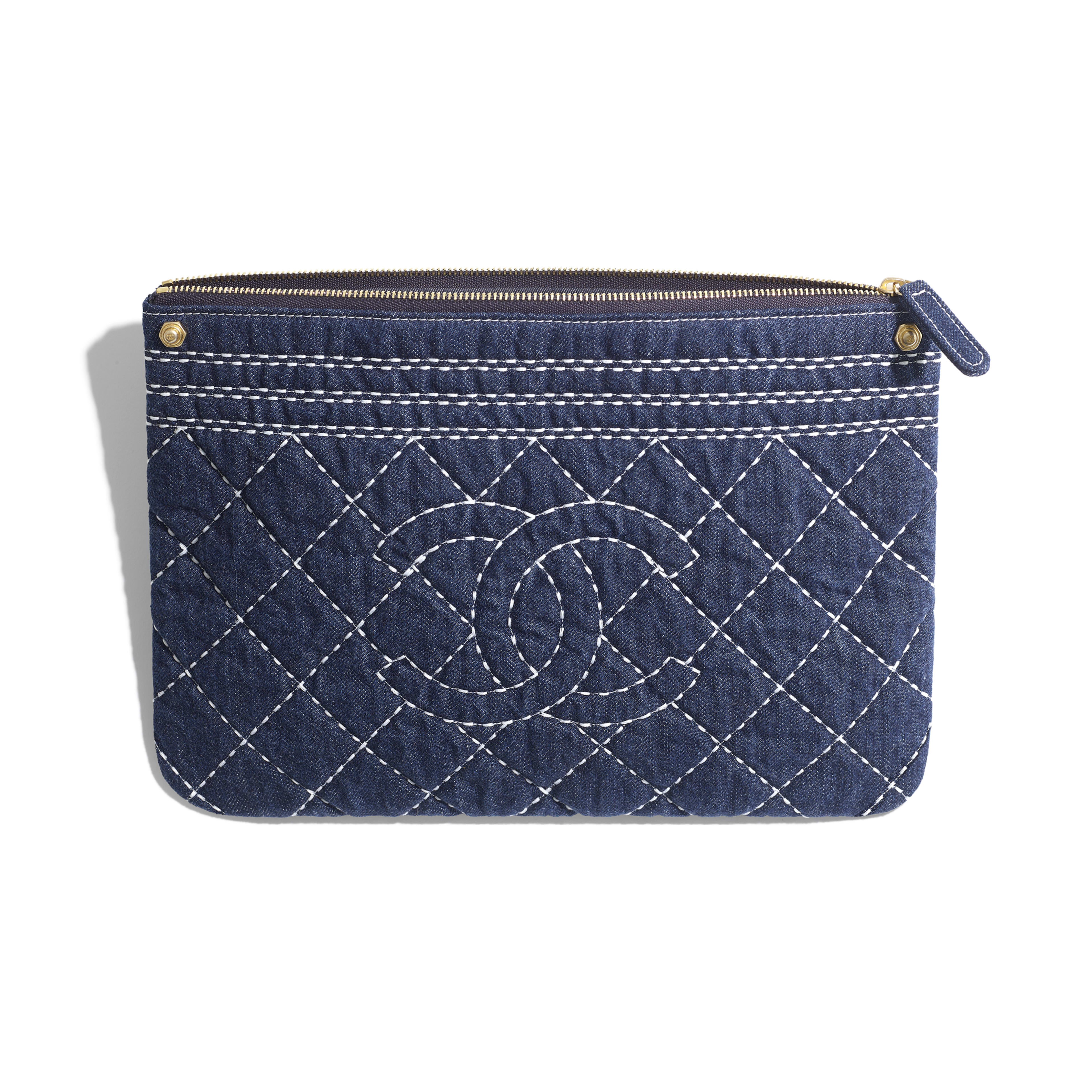 Pouch - Blue - Denim & Gold Metal - Other view - see full sized version