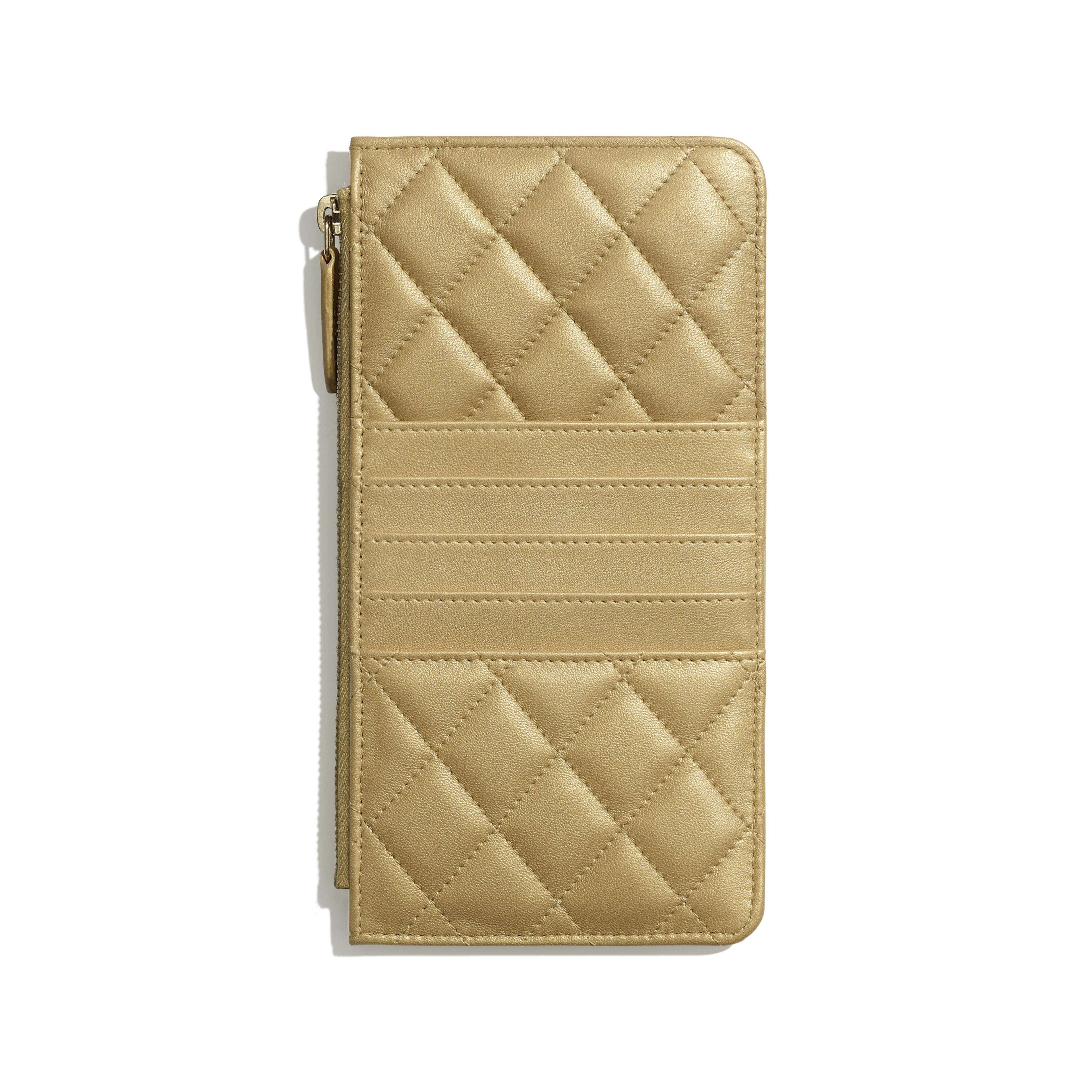 Pouch - Gold - Metallic Lambskin & Gold-Tone Metal - Alternative view - see full sized version