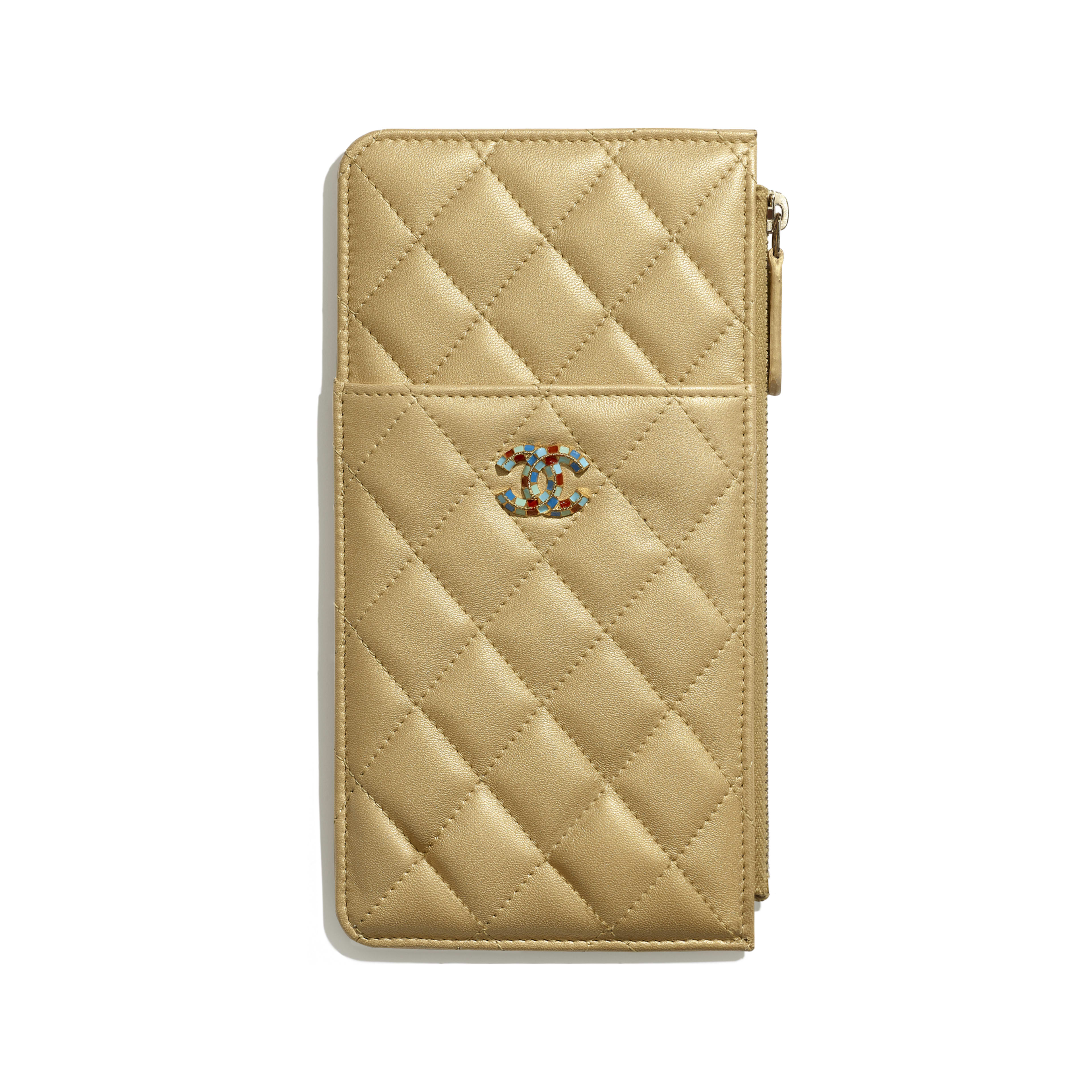 Pouch - Gold - Metallic Lambskin & Gold-Tone Metal - Default view - see full sized version