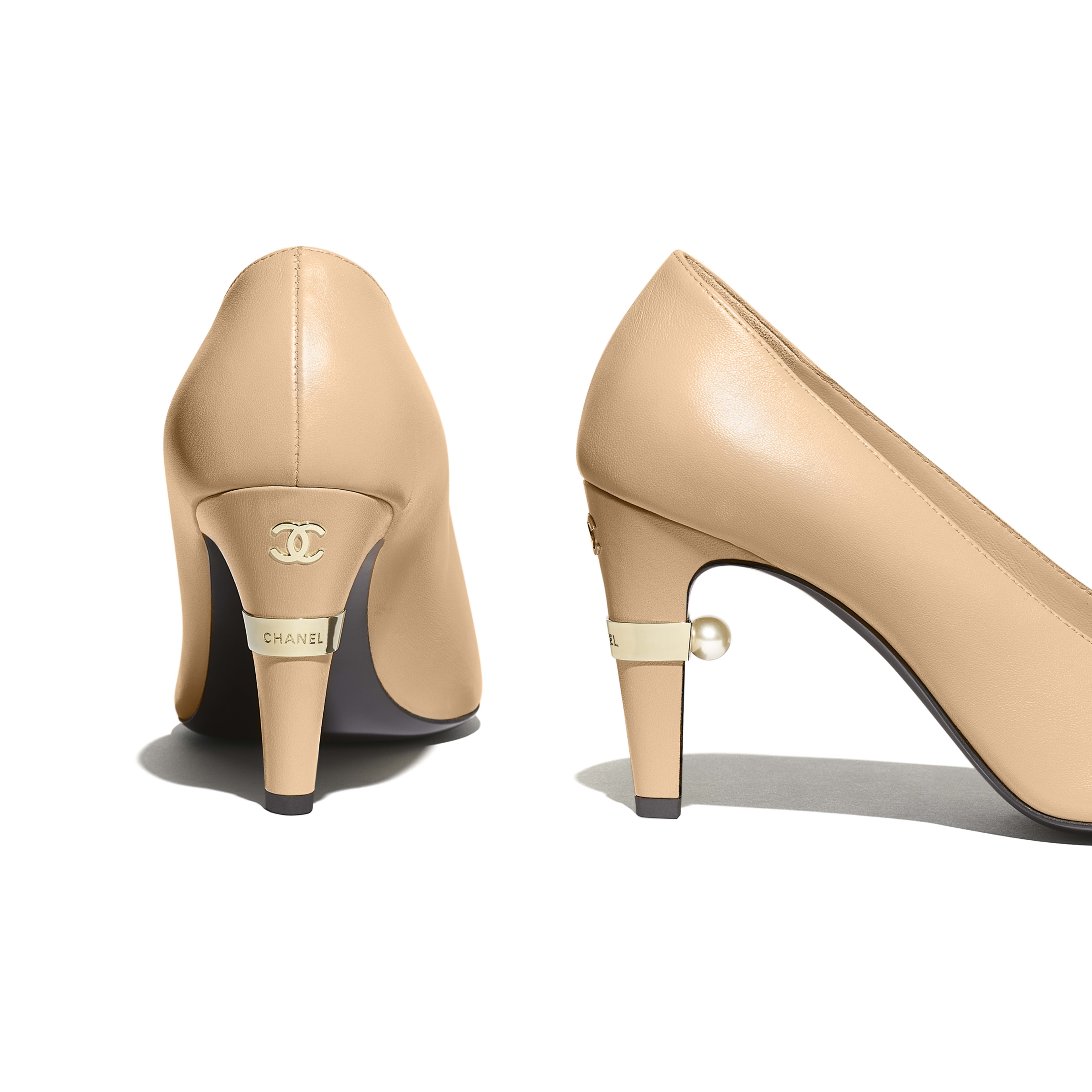 Pumps - Beige & Black - Lambskin - Extra view - see full sized version