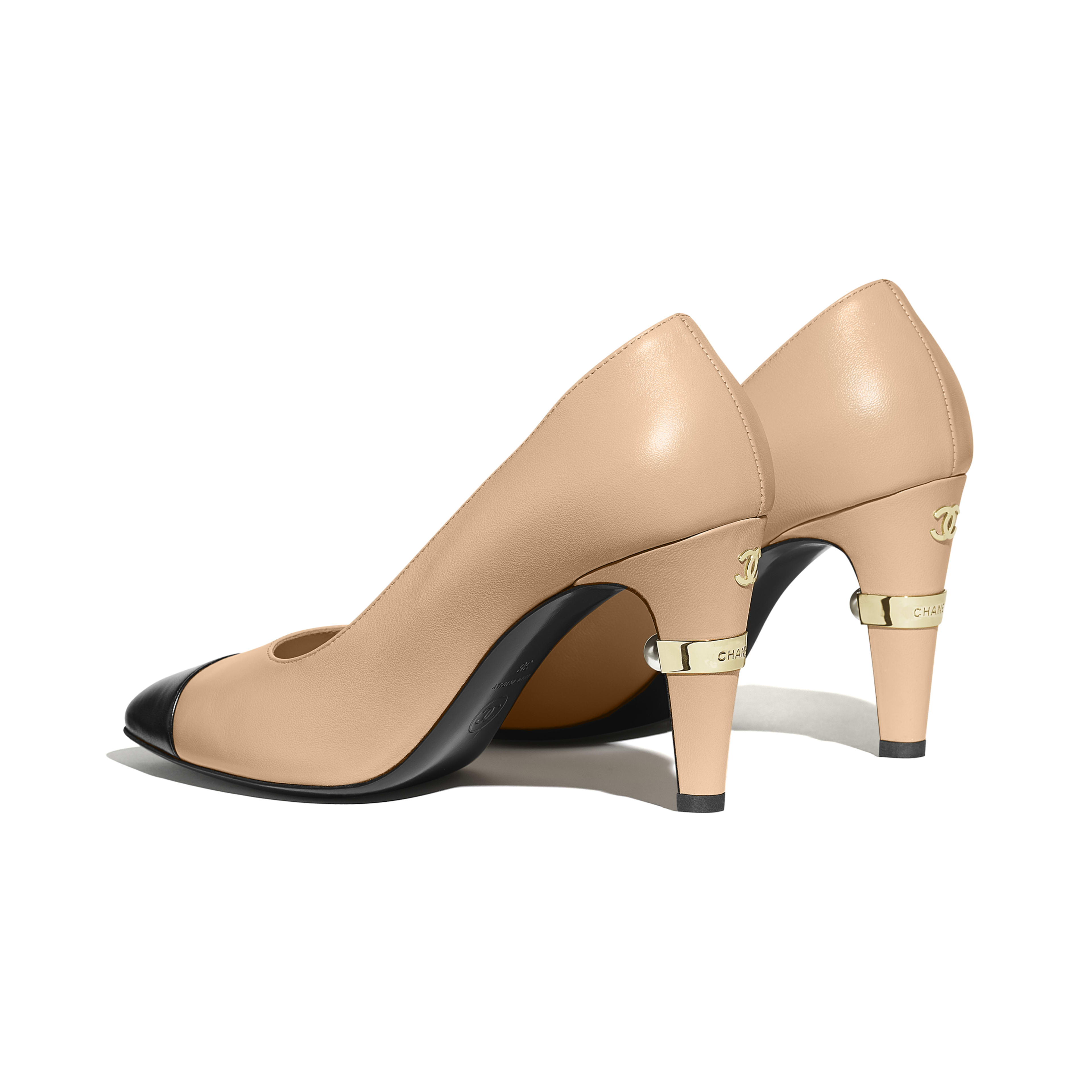 Pumps - Beige & Black - Lambskin - Other view - see full sized version