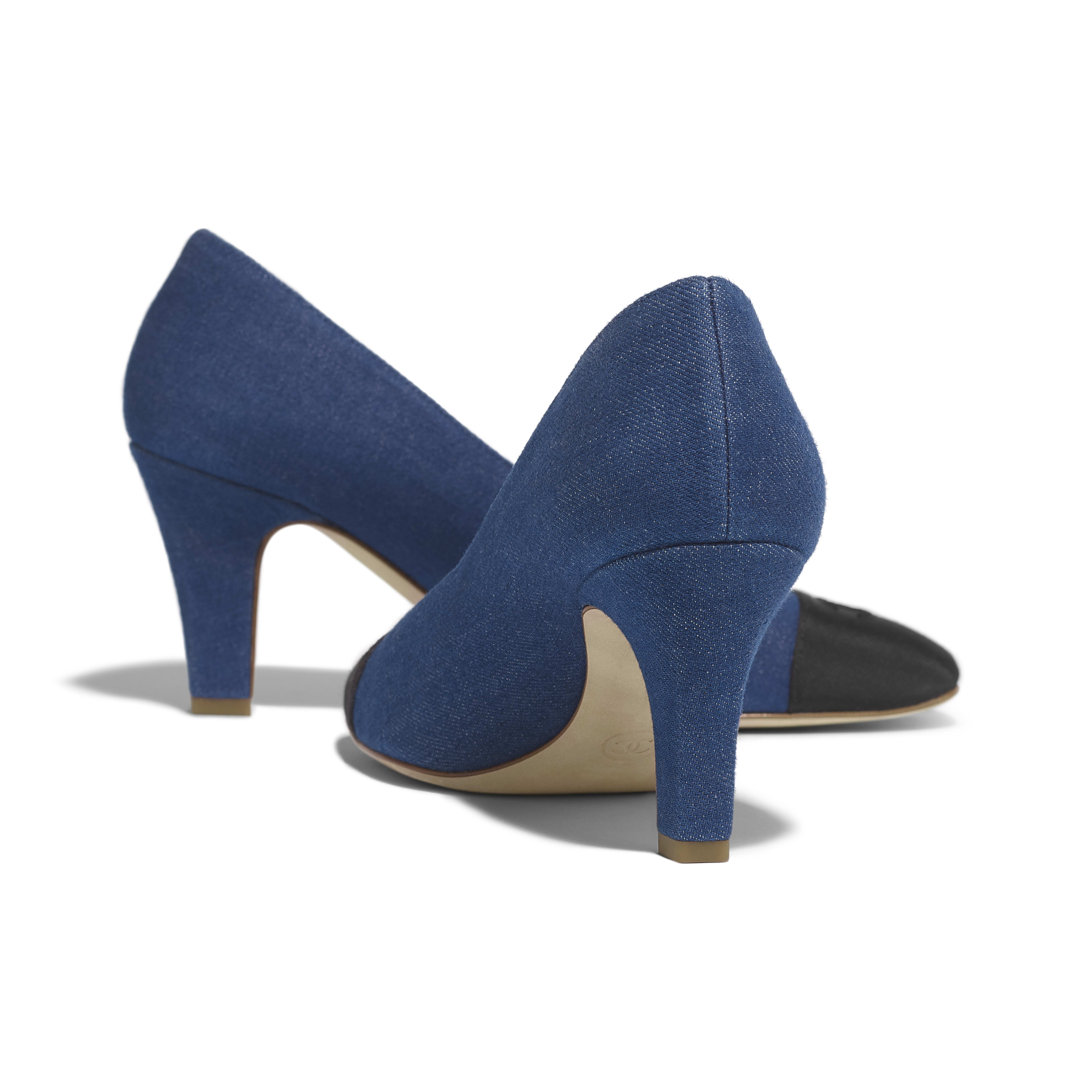 Pumps - Blue & Black - Fabric & Grosgrain - Other view - see full sized version