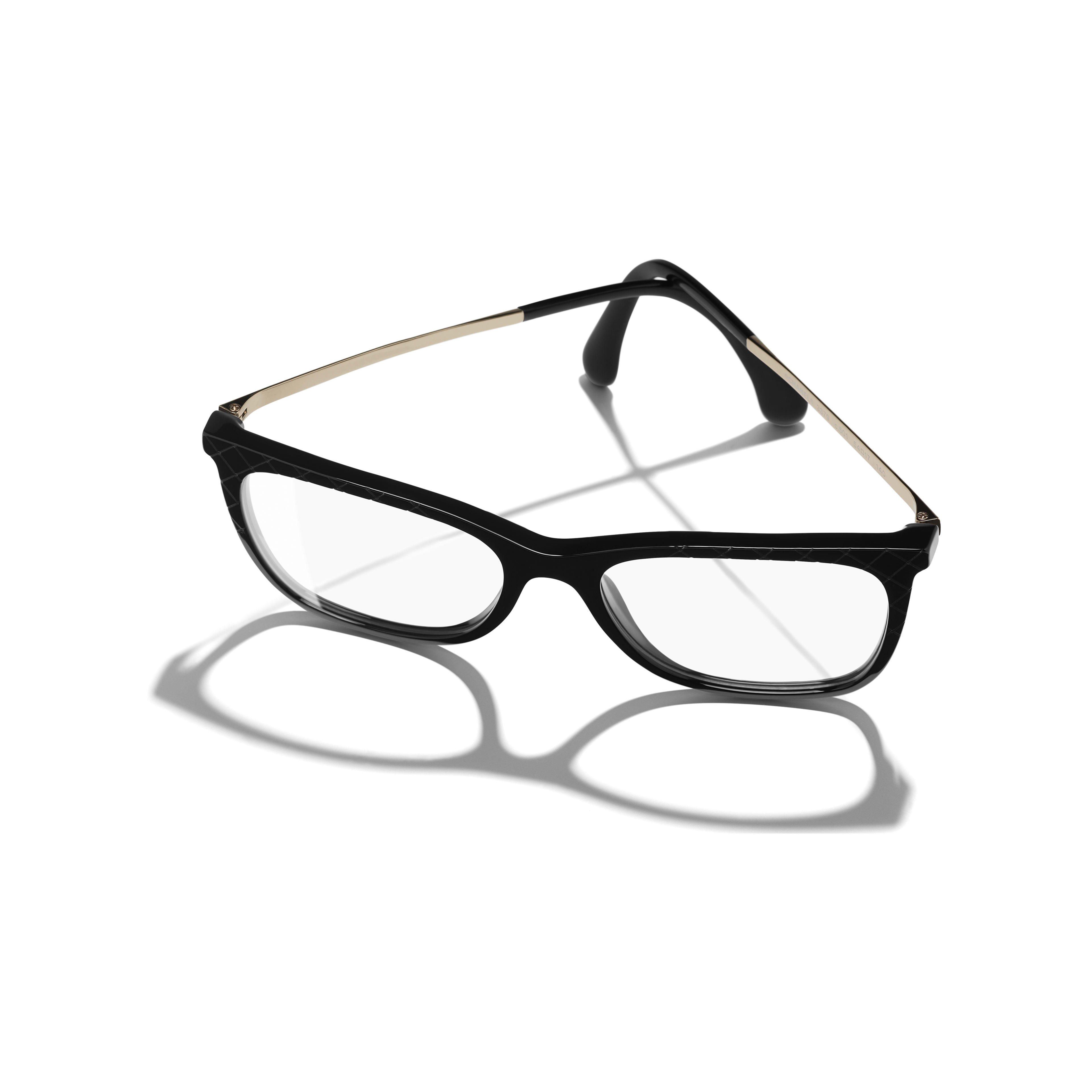 Rectangle Eyeglasses - Black - Acetate & Metal - Extra view - see full sized version