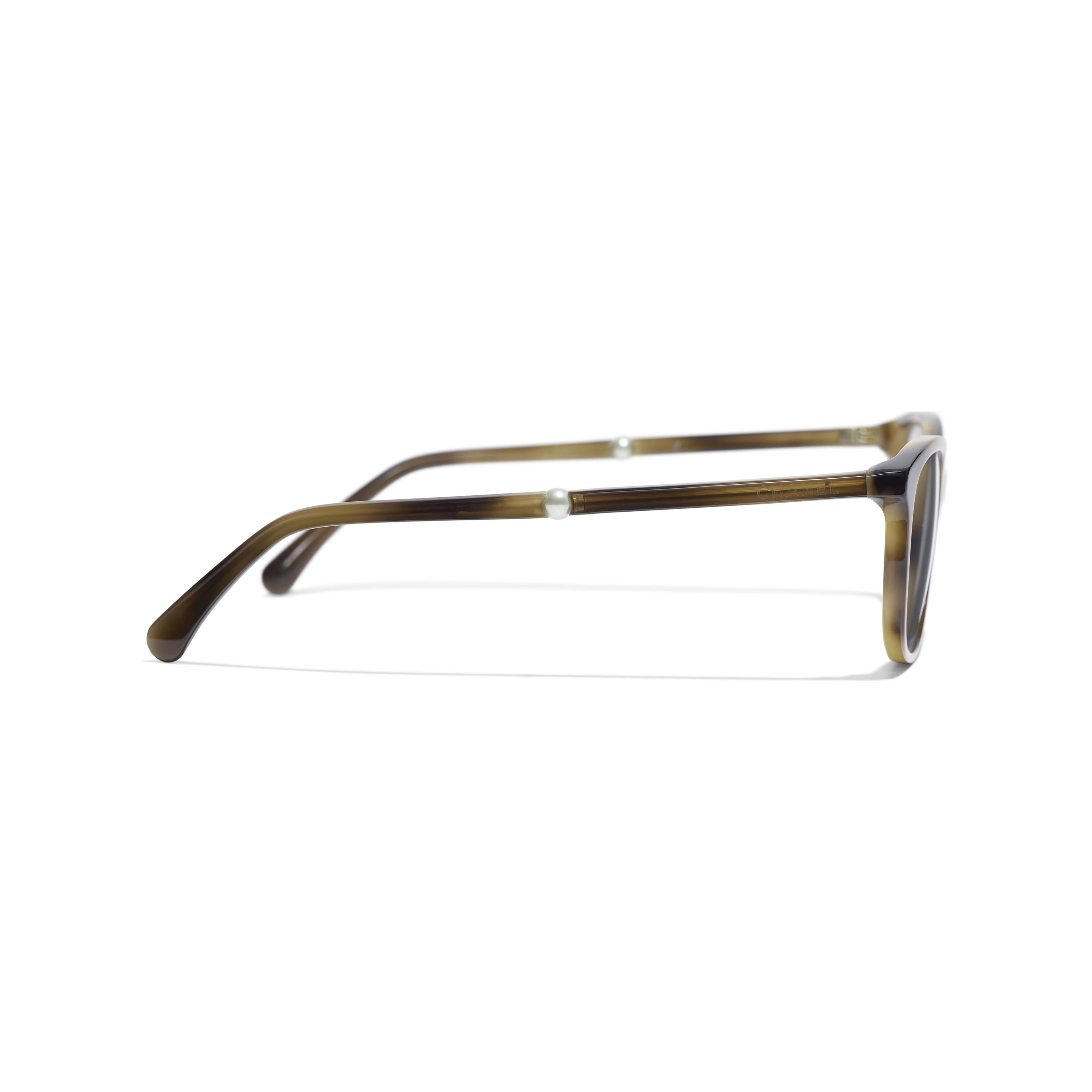 Rectangle Eyeglasses - Tortoise - Acetate & Imitation Pearls - Other view - see full sized version