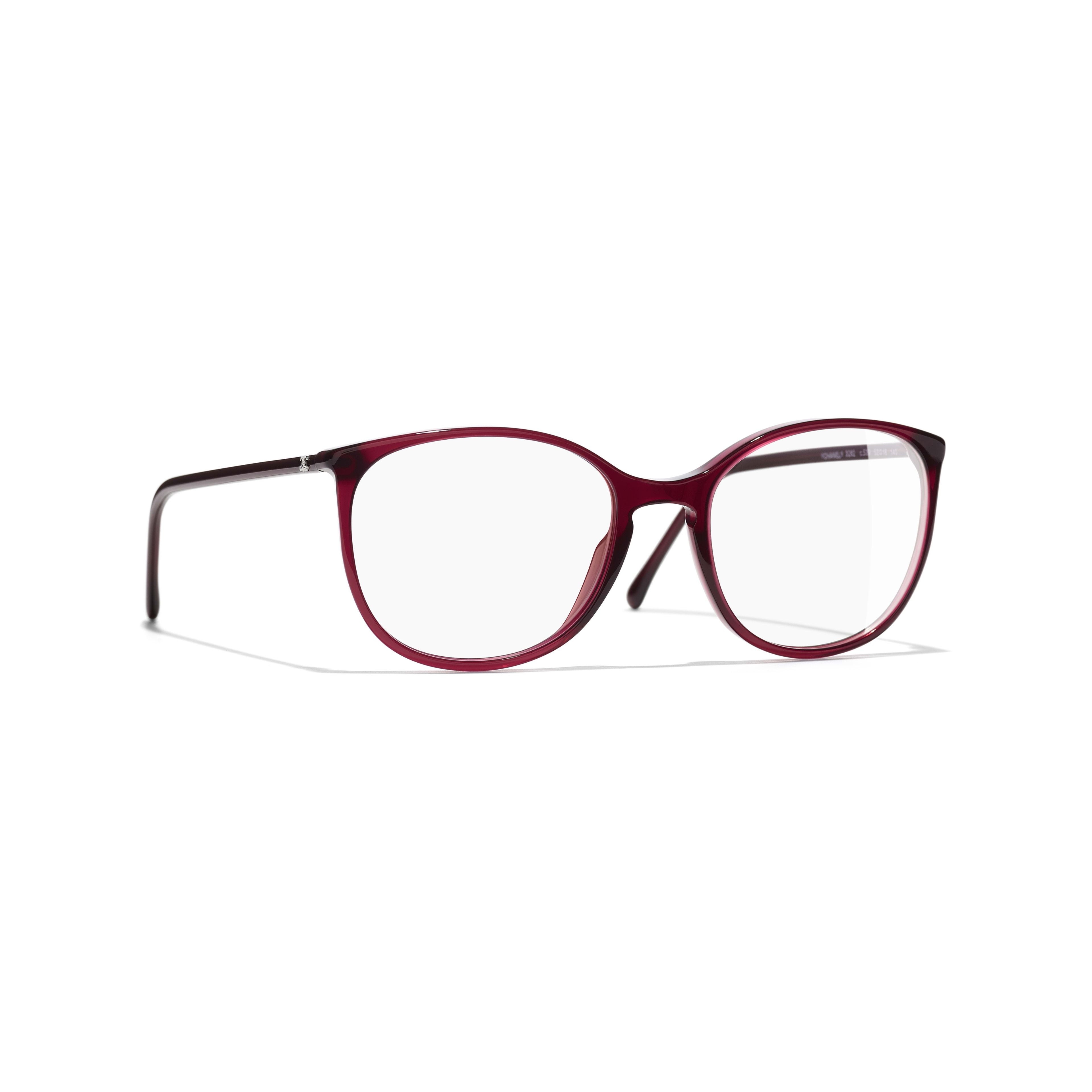 Round Eyeglasses - Red - Acetate - Default view - see full sized version