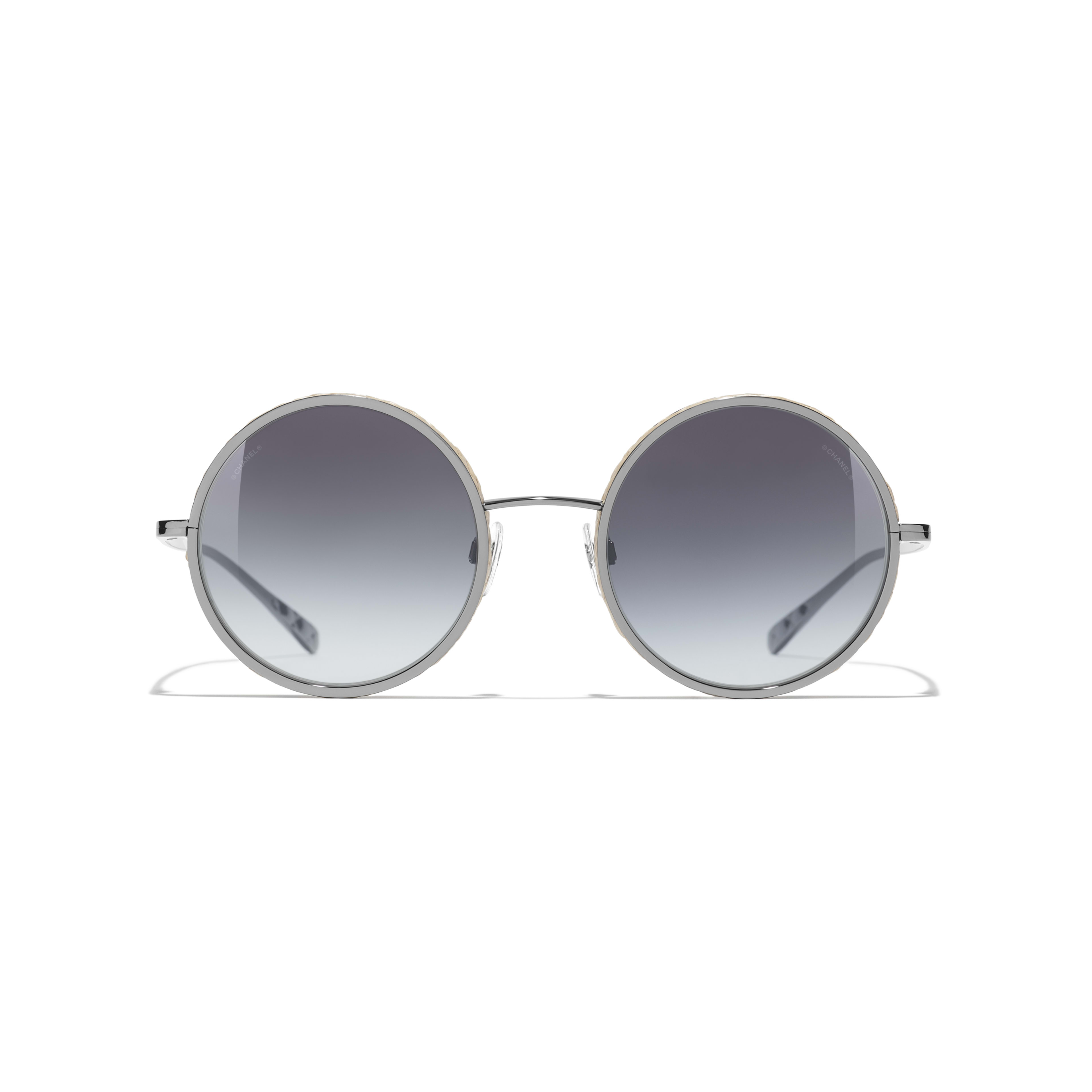 Round Sunglasses - Dark Silver - Metal & Rope - Alternative view - see full sized version
