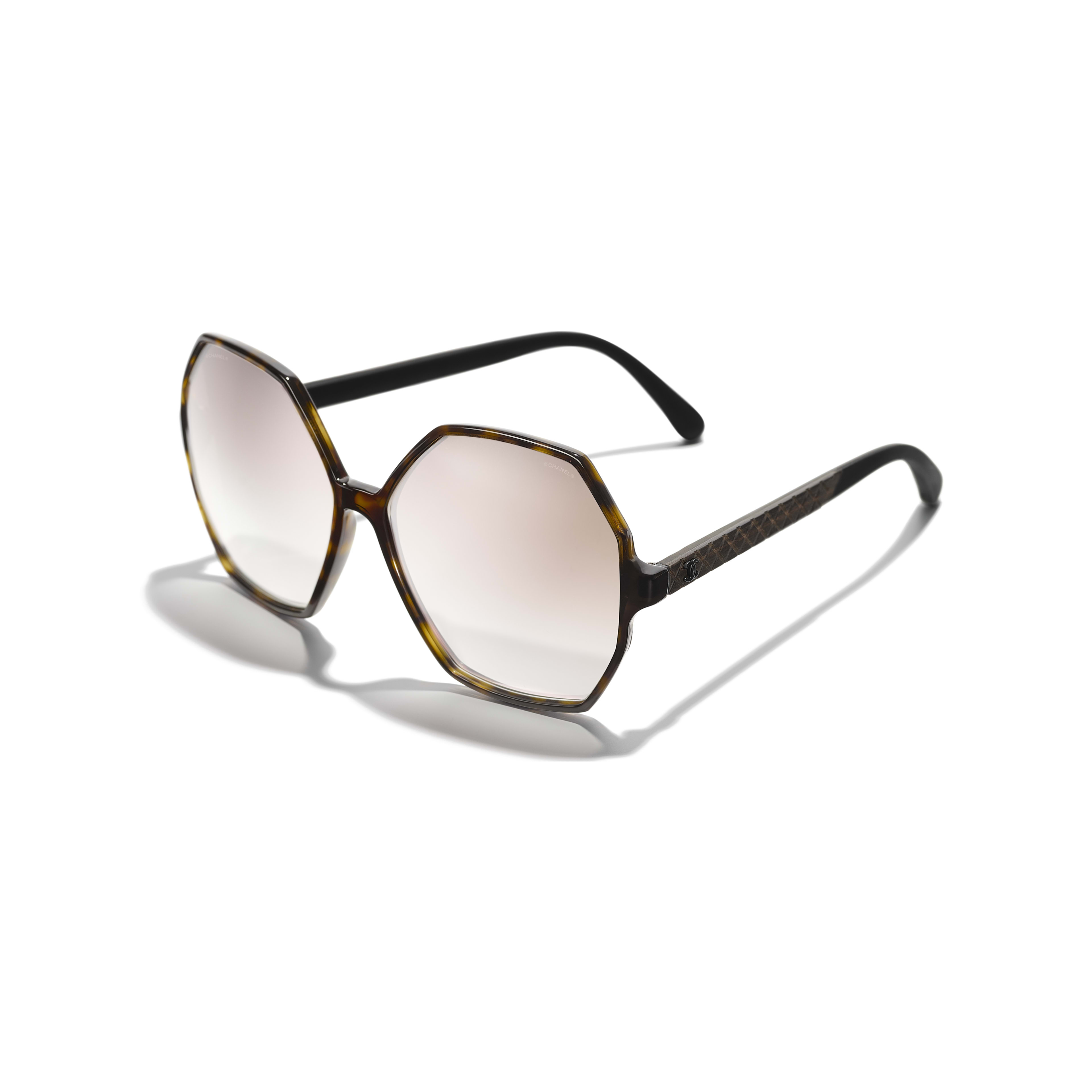 Round Sunglasses - Dark Tortoise - Acetate, Wood & Rubber - Extra view - see full sized version