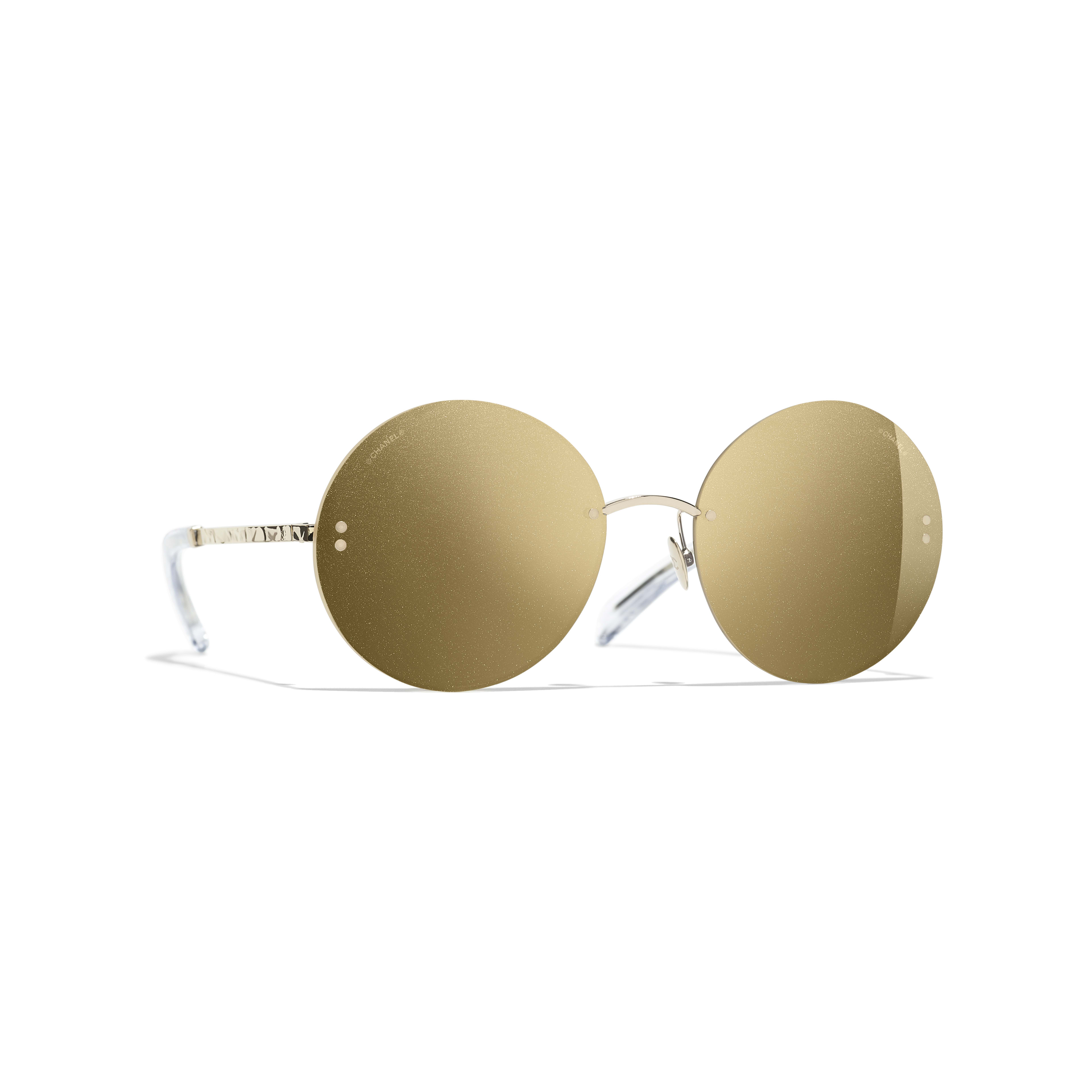 Round Sunglasses - Gold - Metal - Default view - see full sized version
