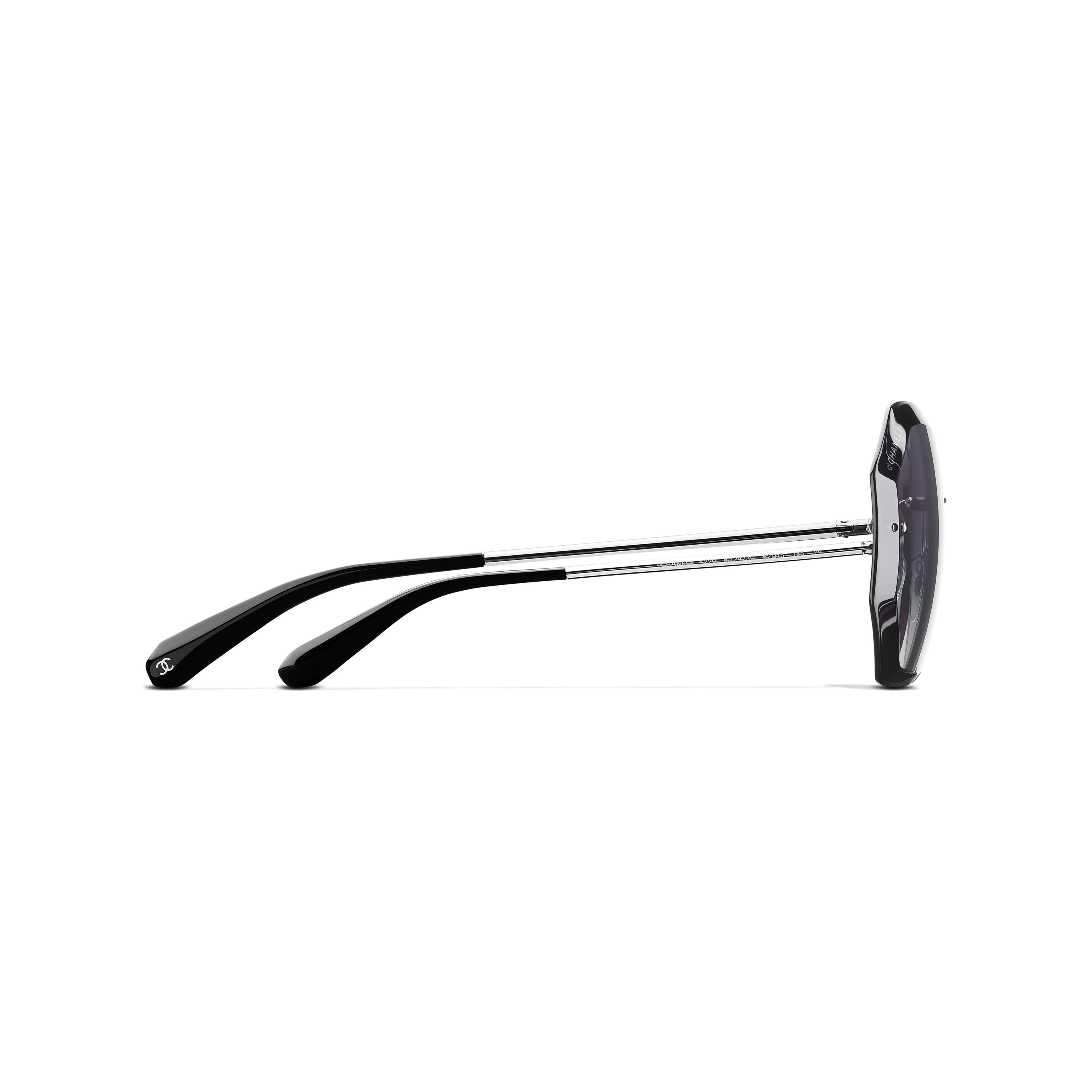Солнцезащитные очки круглой формы - Серебристый и серый - Металл - Другое изображение - посмотреть полноразмерное изображение
