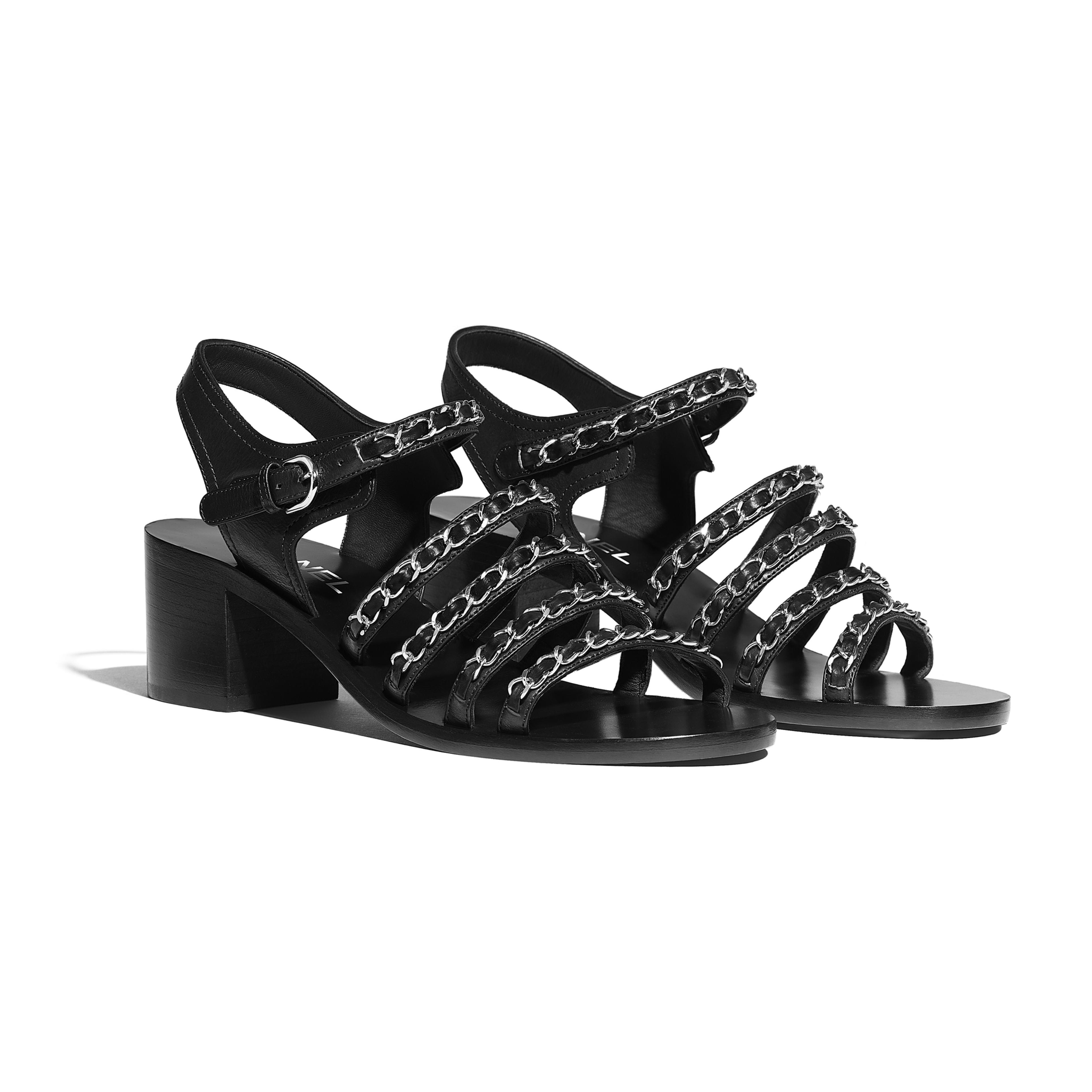Sandals - Black - Calfskin - Alternative view - see full sized version