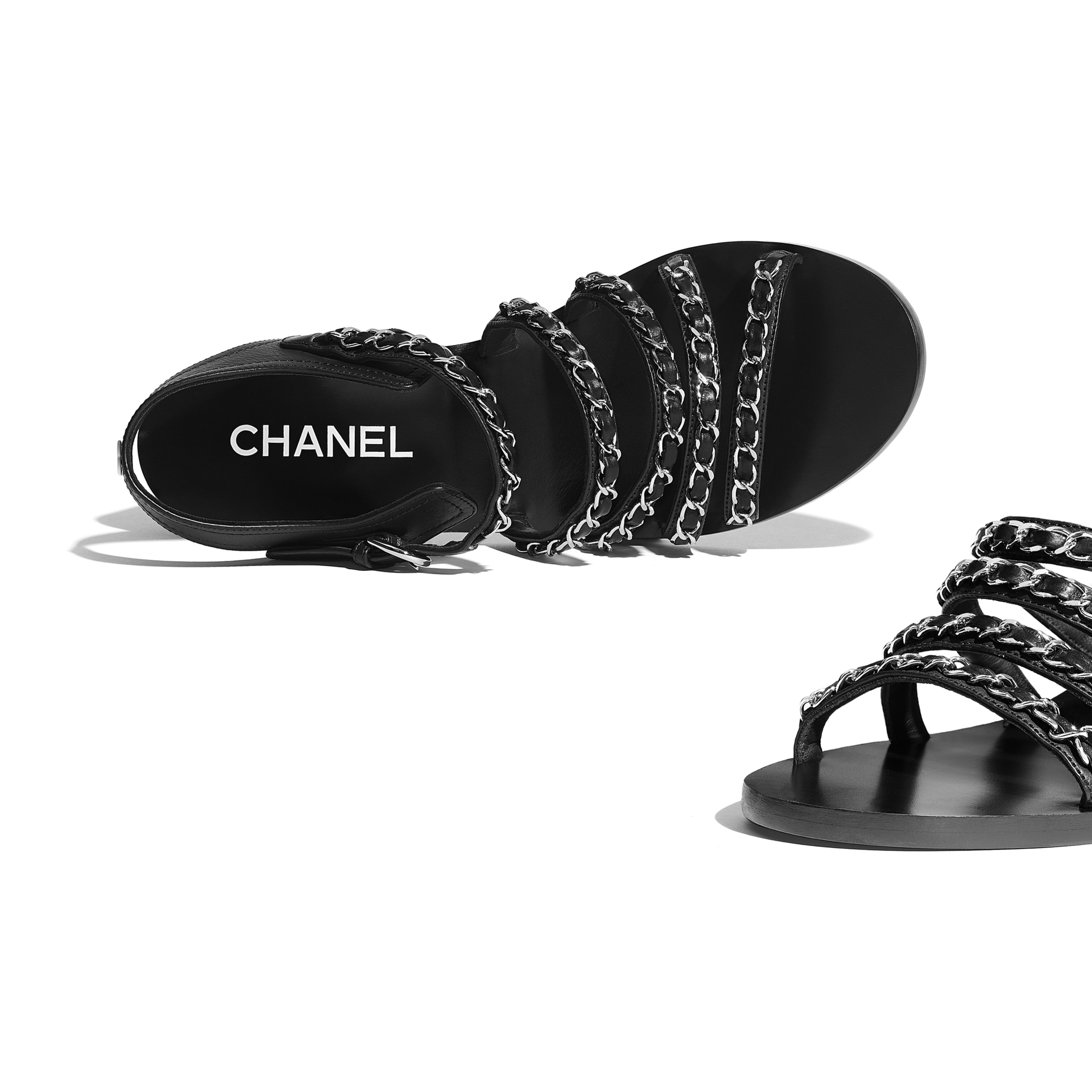 Sandals - Black - Calfskin - Extra view - see full sized version
