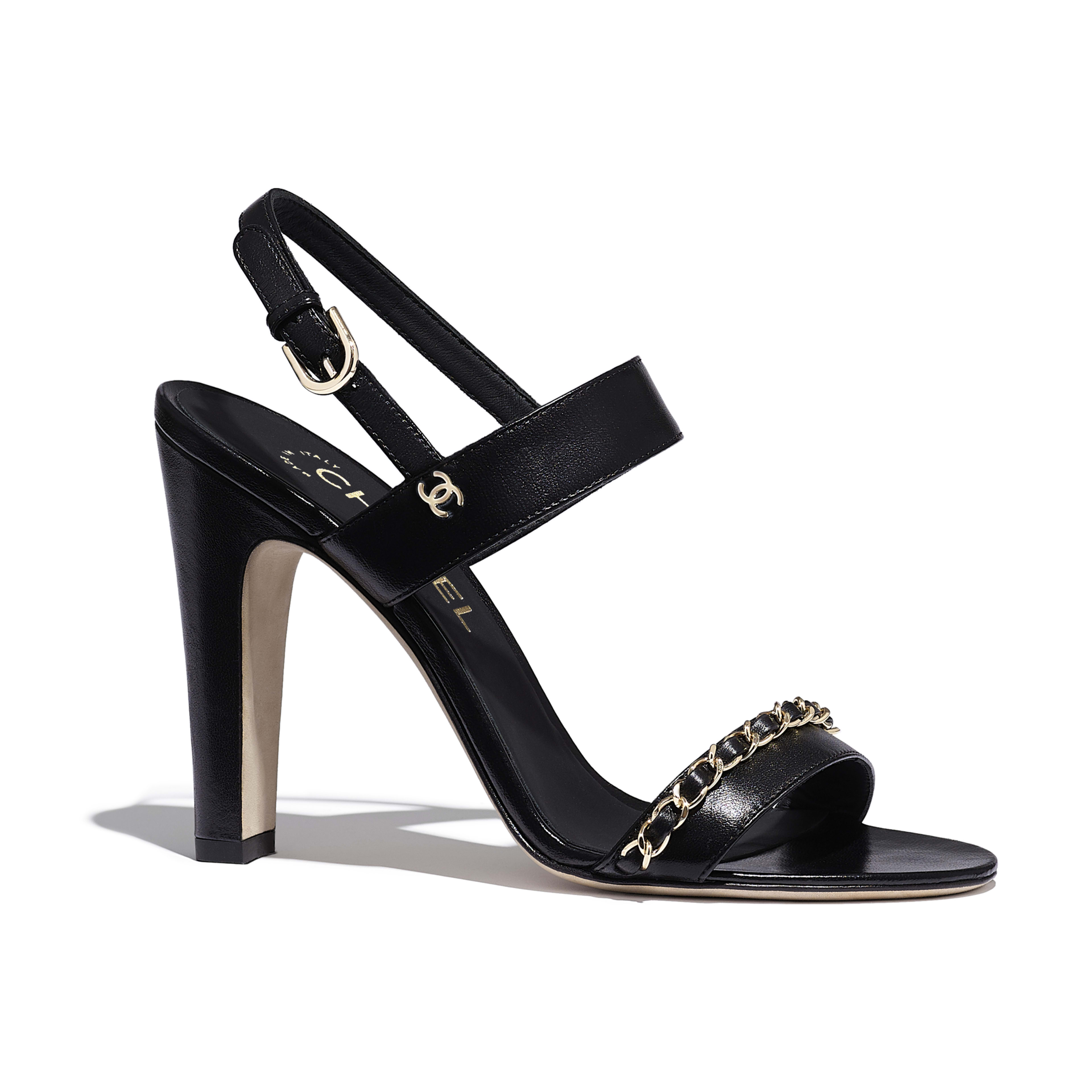 Sandals - Black - Lambskin - Default view - see full sized version