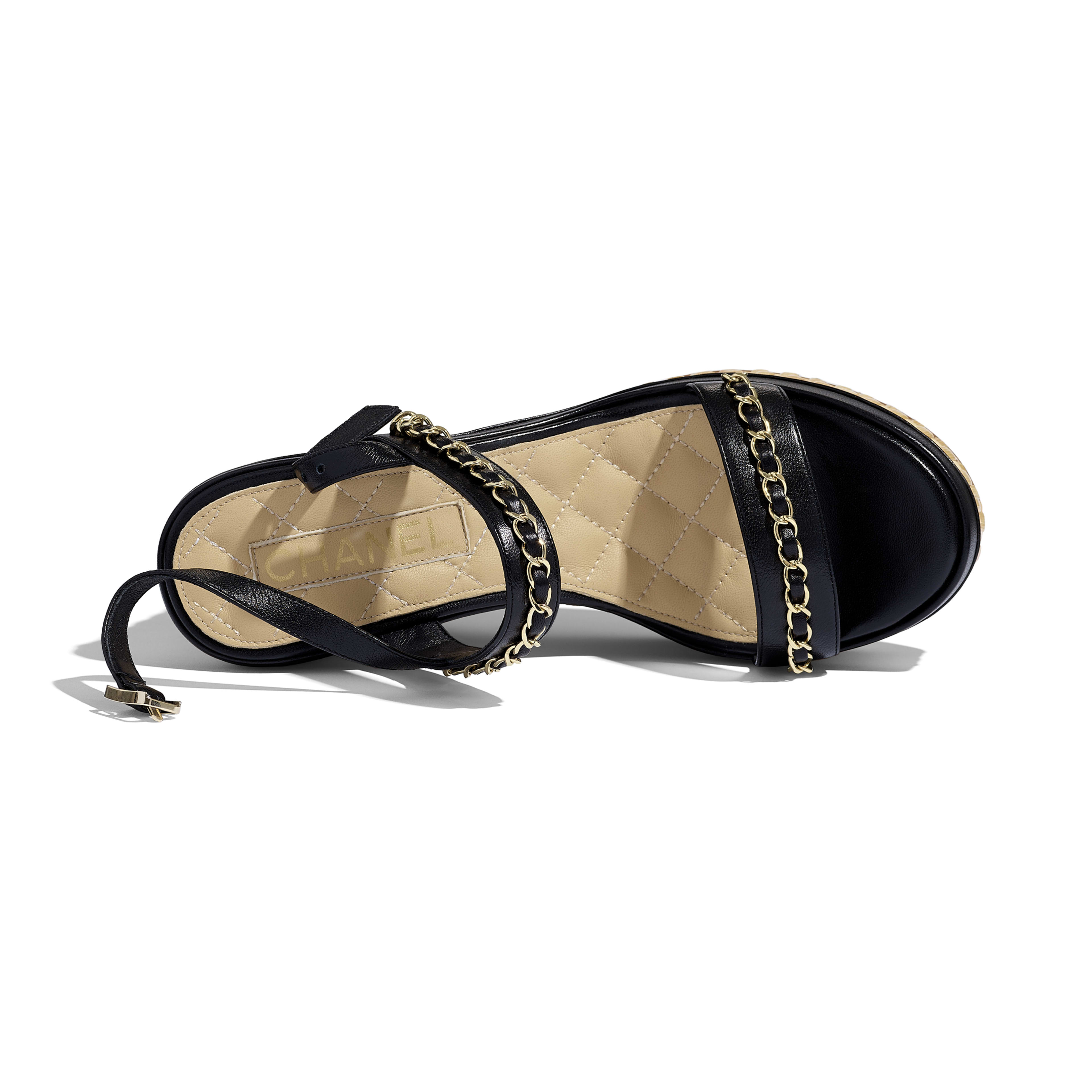 Sandals - Black - Lambskin - Extra view - see full sized version