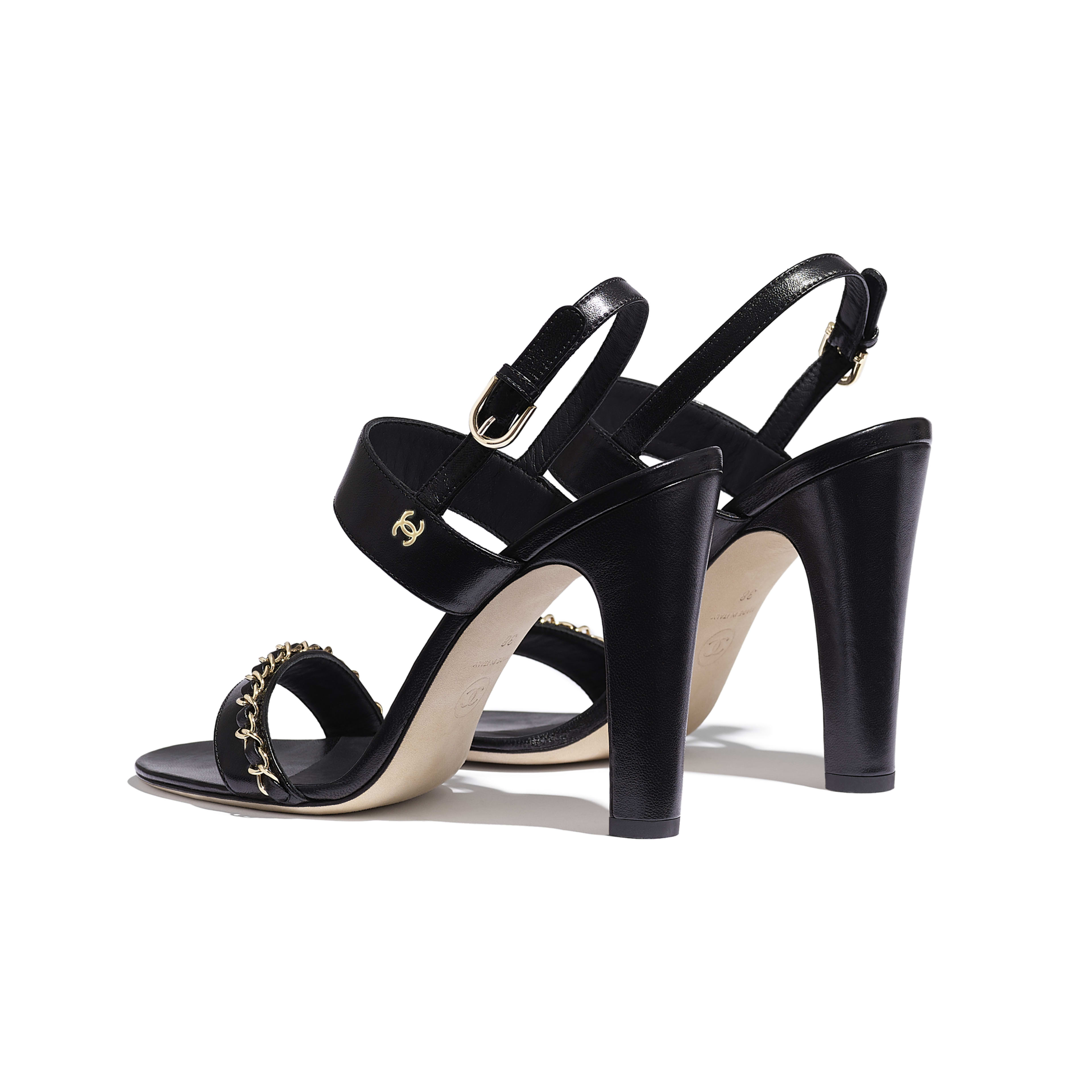 Sandals - Black - Lambskin - Other view - see full sized version