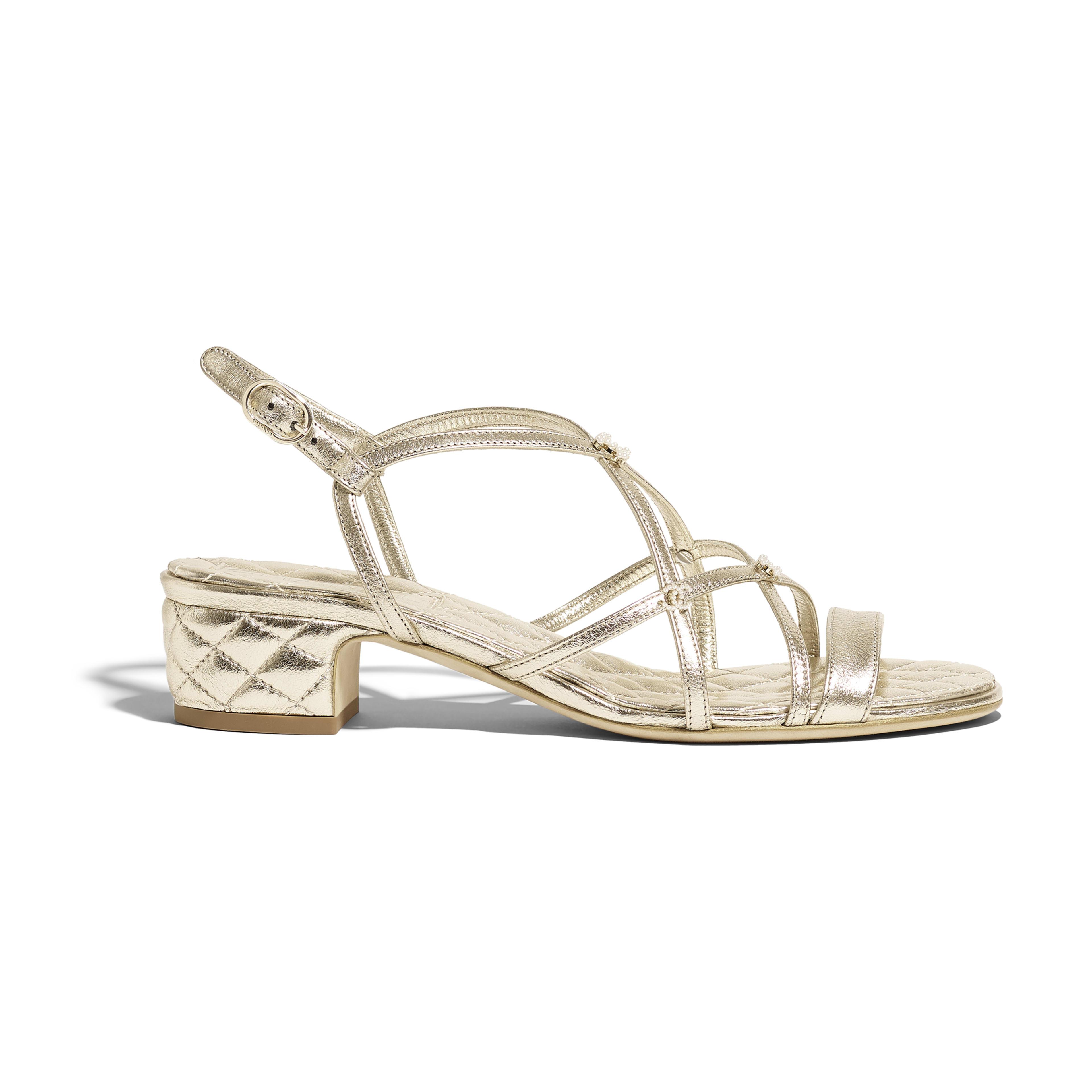 3dd729551739 Sandals gold laminated lambskin laminated lambskin packshot default jpg  3840x3840 Gold sandals