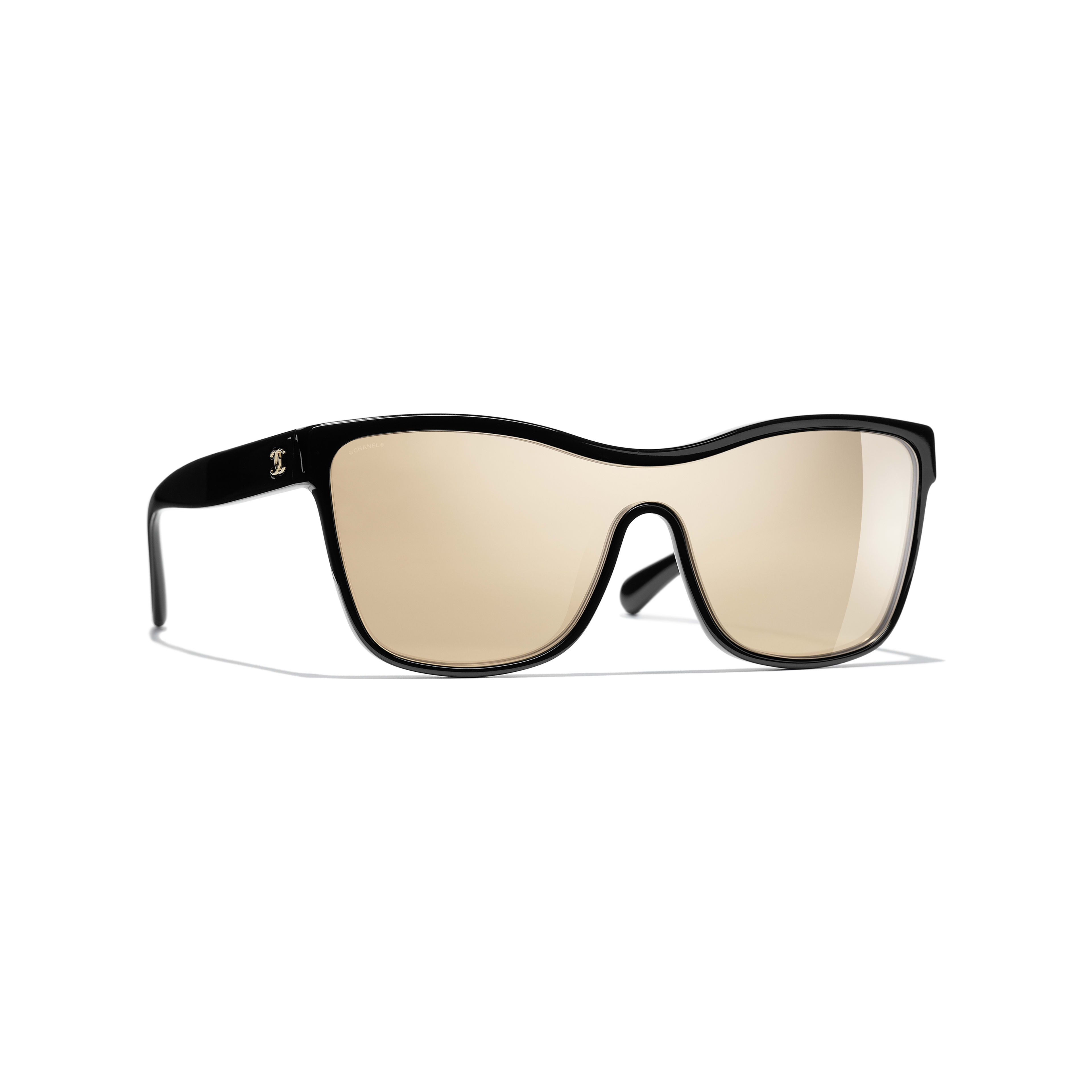 Shield Sunglasses - Black - Acetate - Default view - see full sized version
