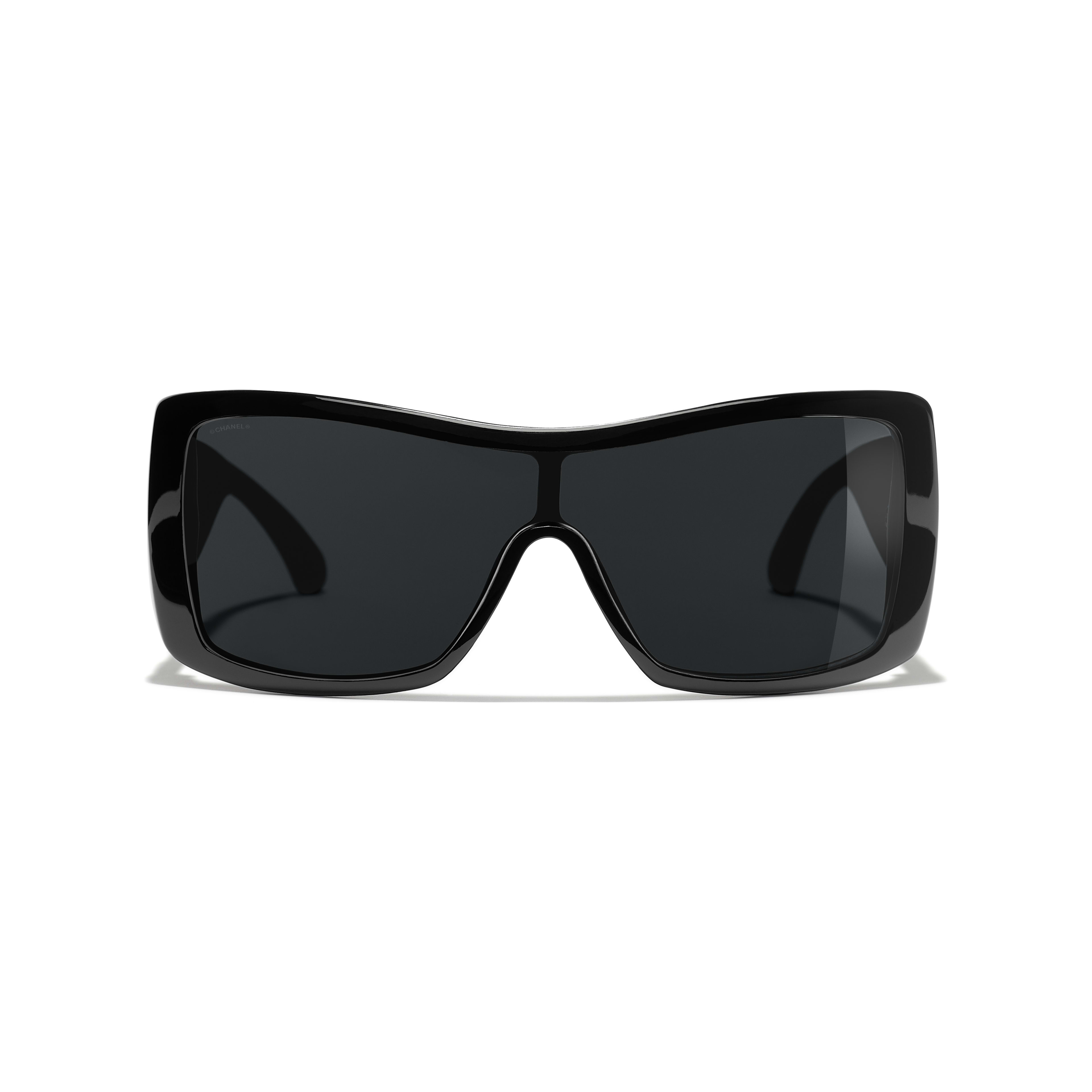 Shield Sunglasses - Black - Acetate, Wood & Rubber - Alternative view - see full sized version