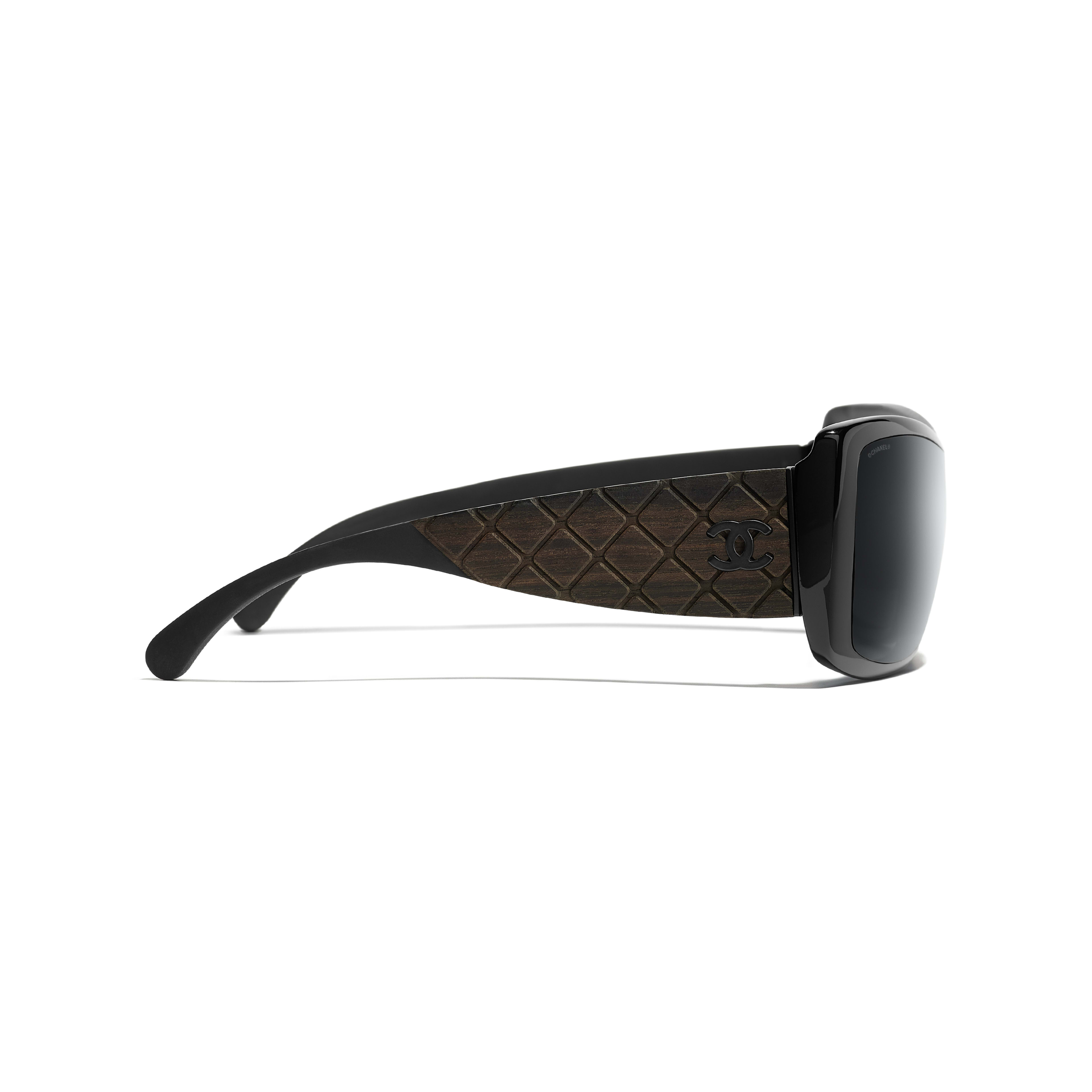 Shield Sunglasses - Black - Acetate, Wood & Rubber - Other view - see full sized version