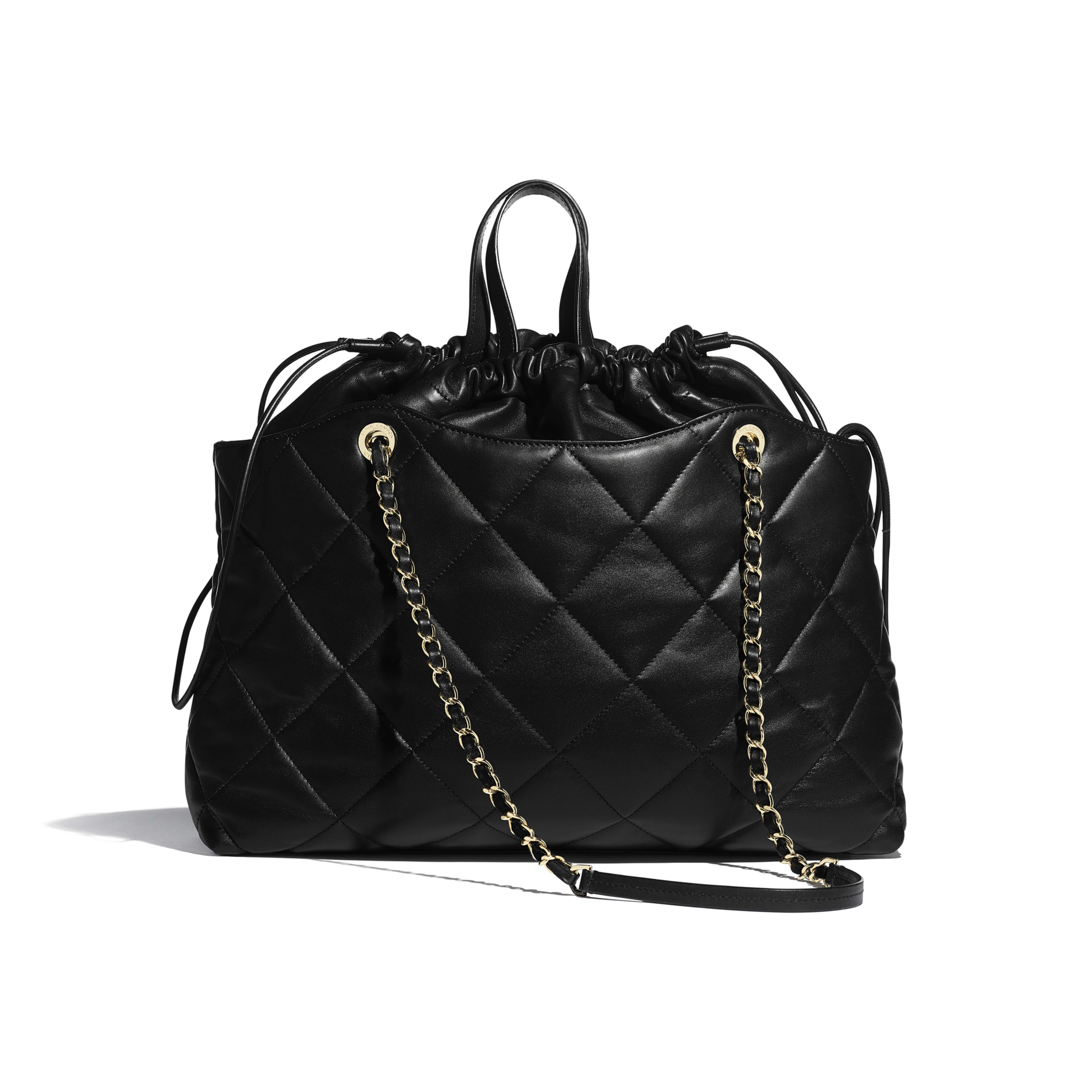 Shopping Bag - Black - Lambskin - Alternative view - see full sized version