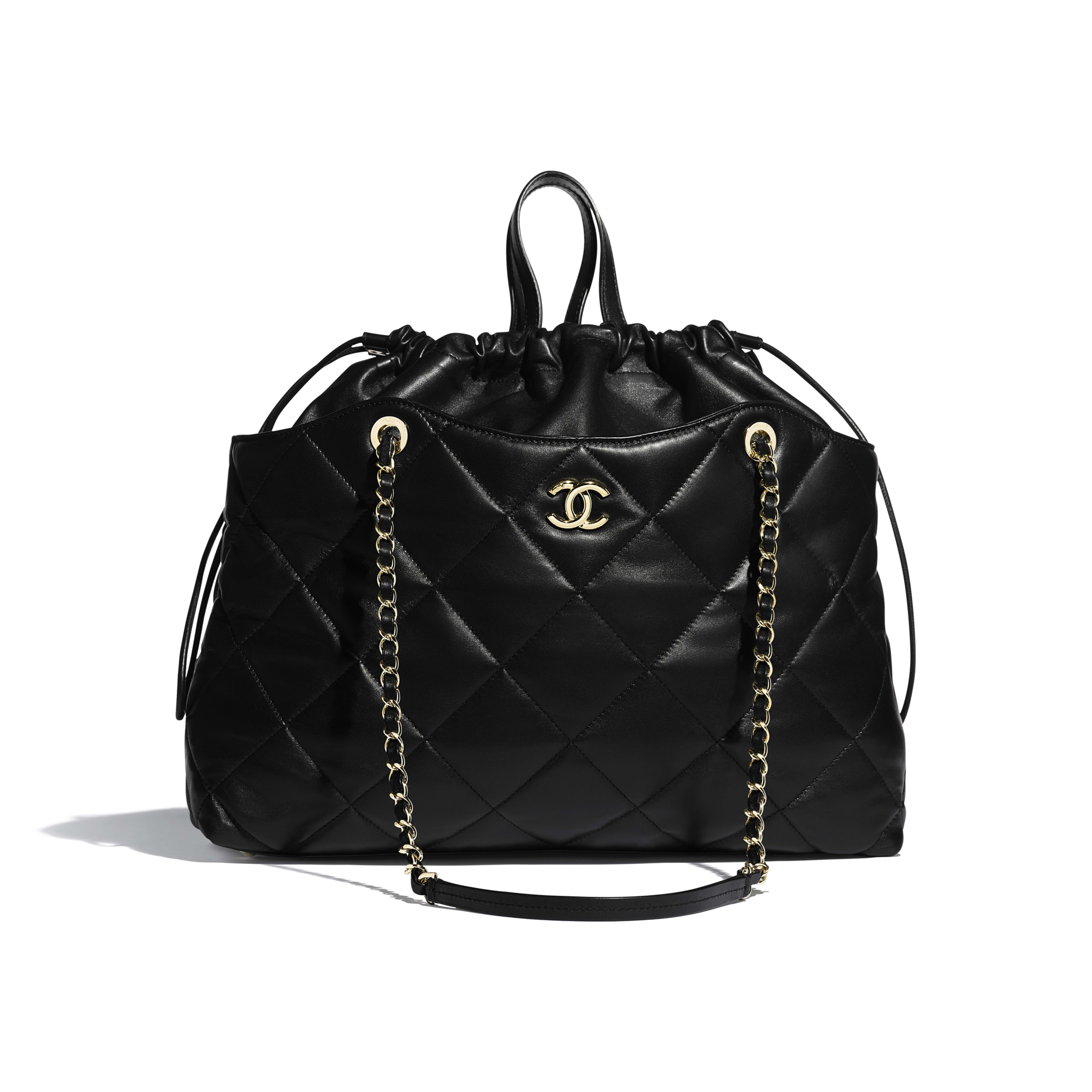 Shopping Bag - Black - Lambskin - Default view - see full sized version