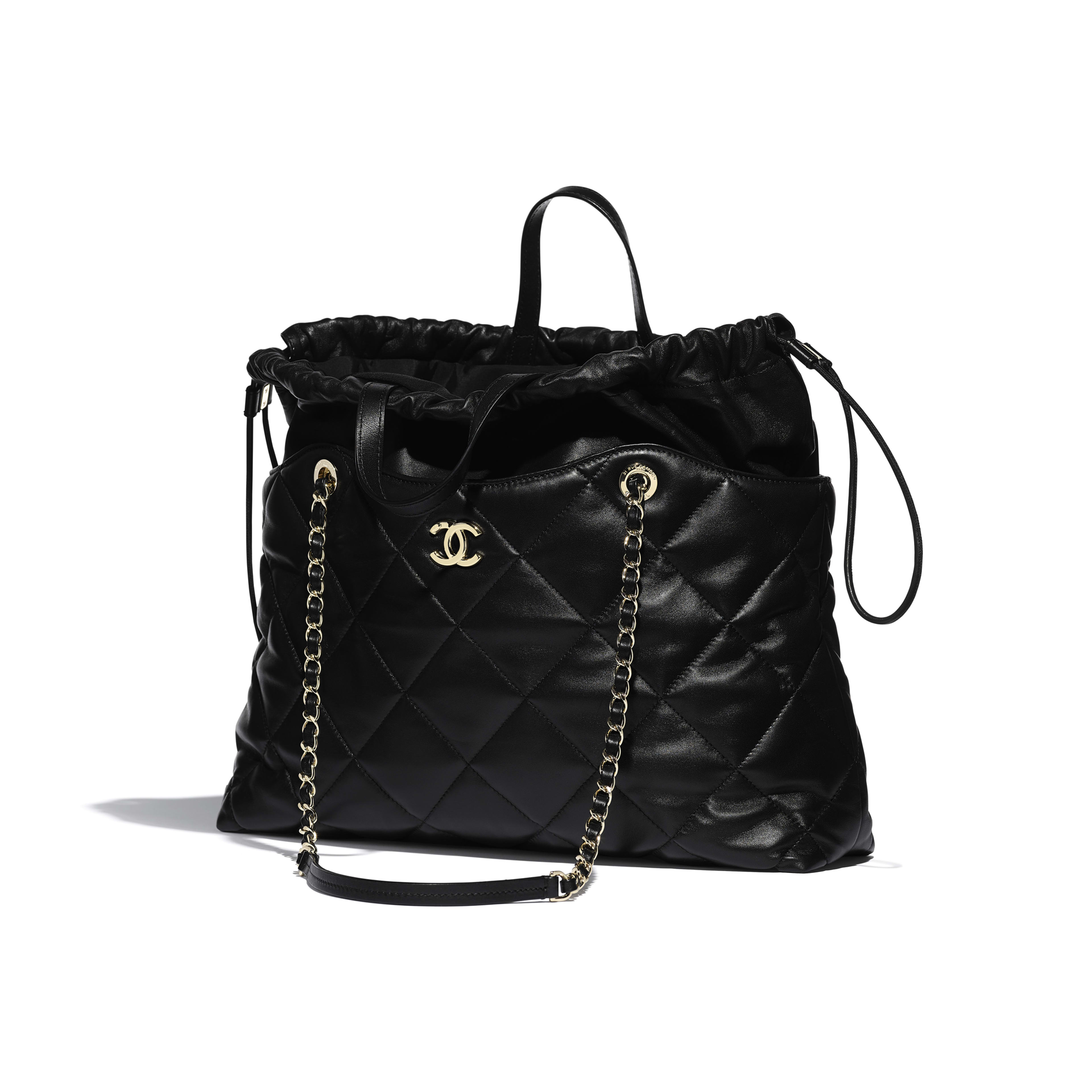 Shopping Bag - Black - Lambskin - Other view - see full sized version