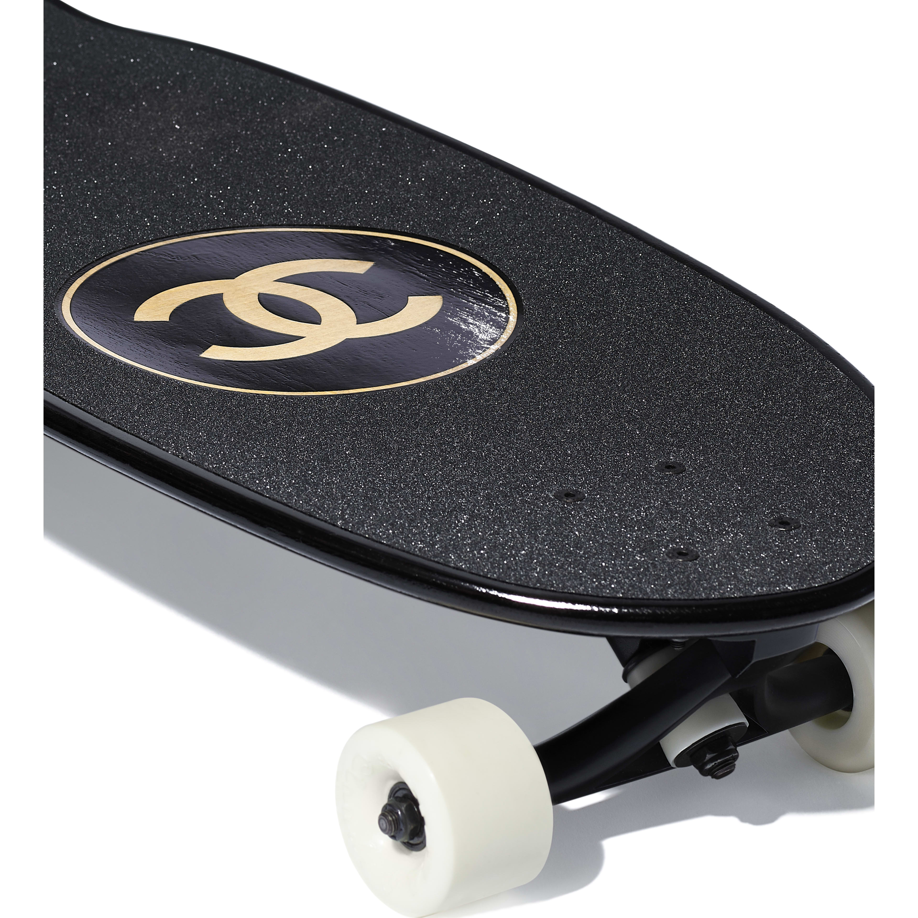 Skateboard - Black - Lacquered Wood - Other view - see full sized version