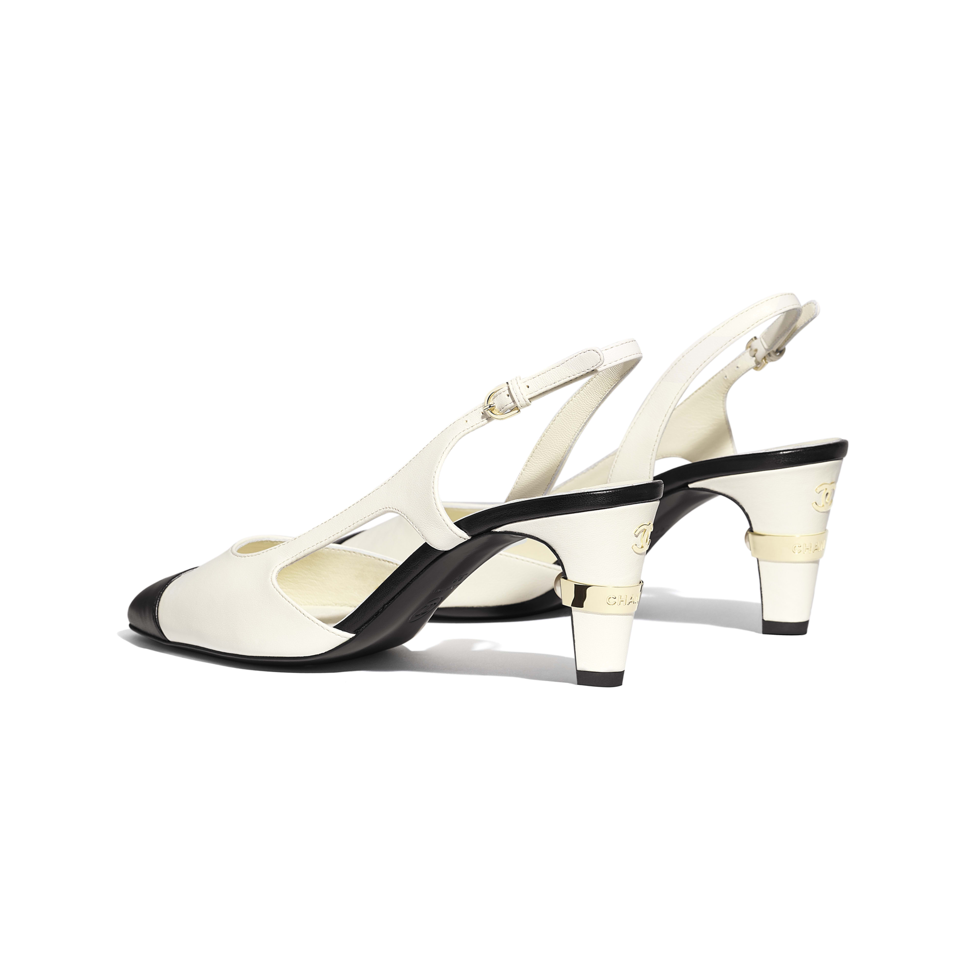 Sling-Back - Ivory & Black - Lambskin - Other view - see full sized version