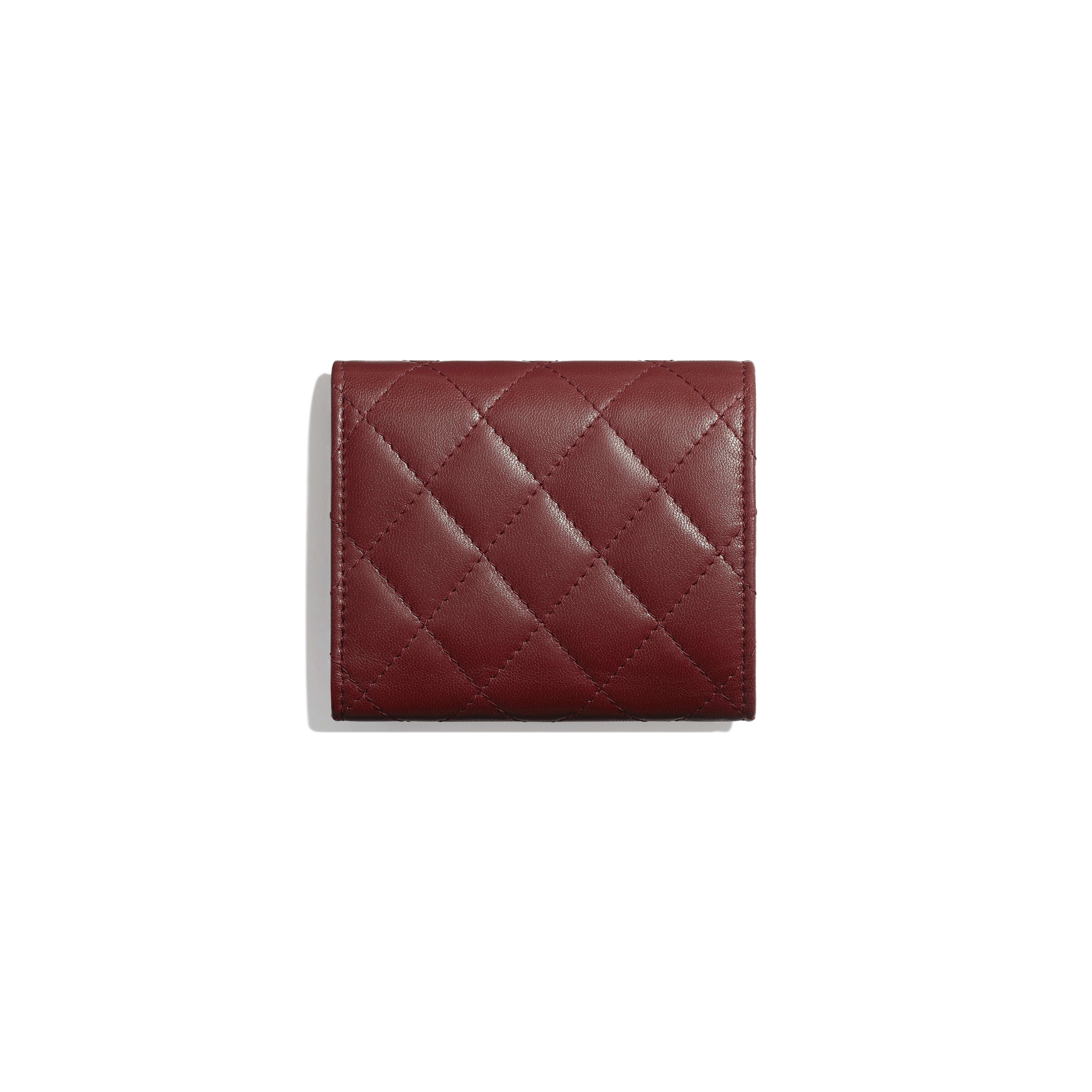 Small Flap Wallet - Burgundy - Lambskin - Alternative view - see full sized version