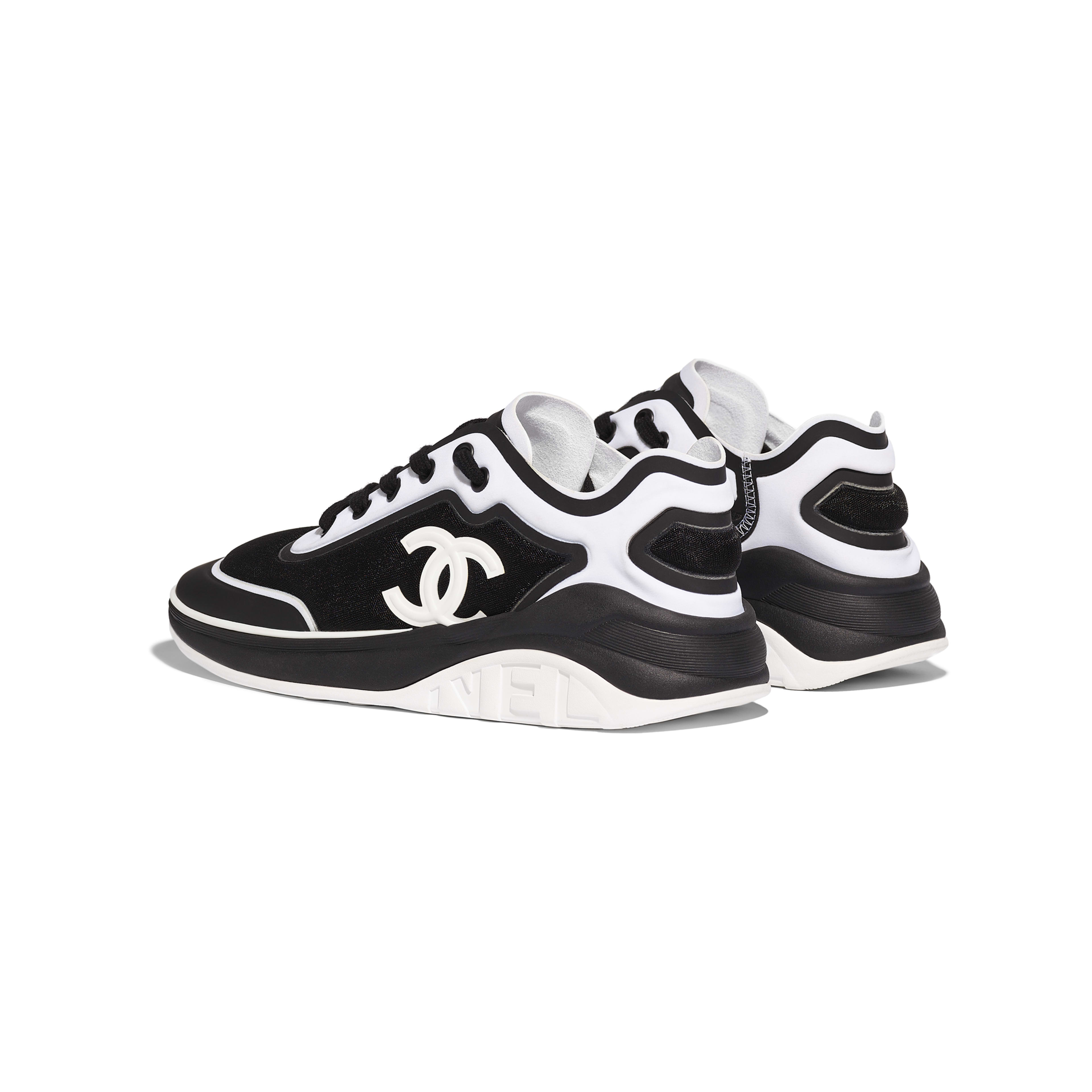 Sneakers - Black & White - Mesh & Lycra - Other view - see full sized version